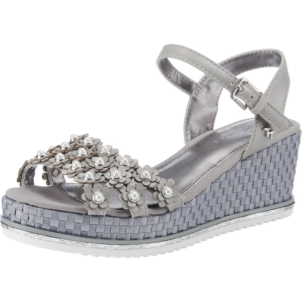 Sandalen - Sandaletten › Tom Tailor › silber  - Onlineshop ABOUT YOU