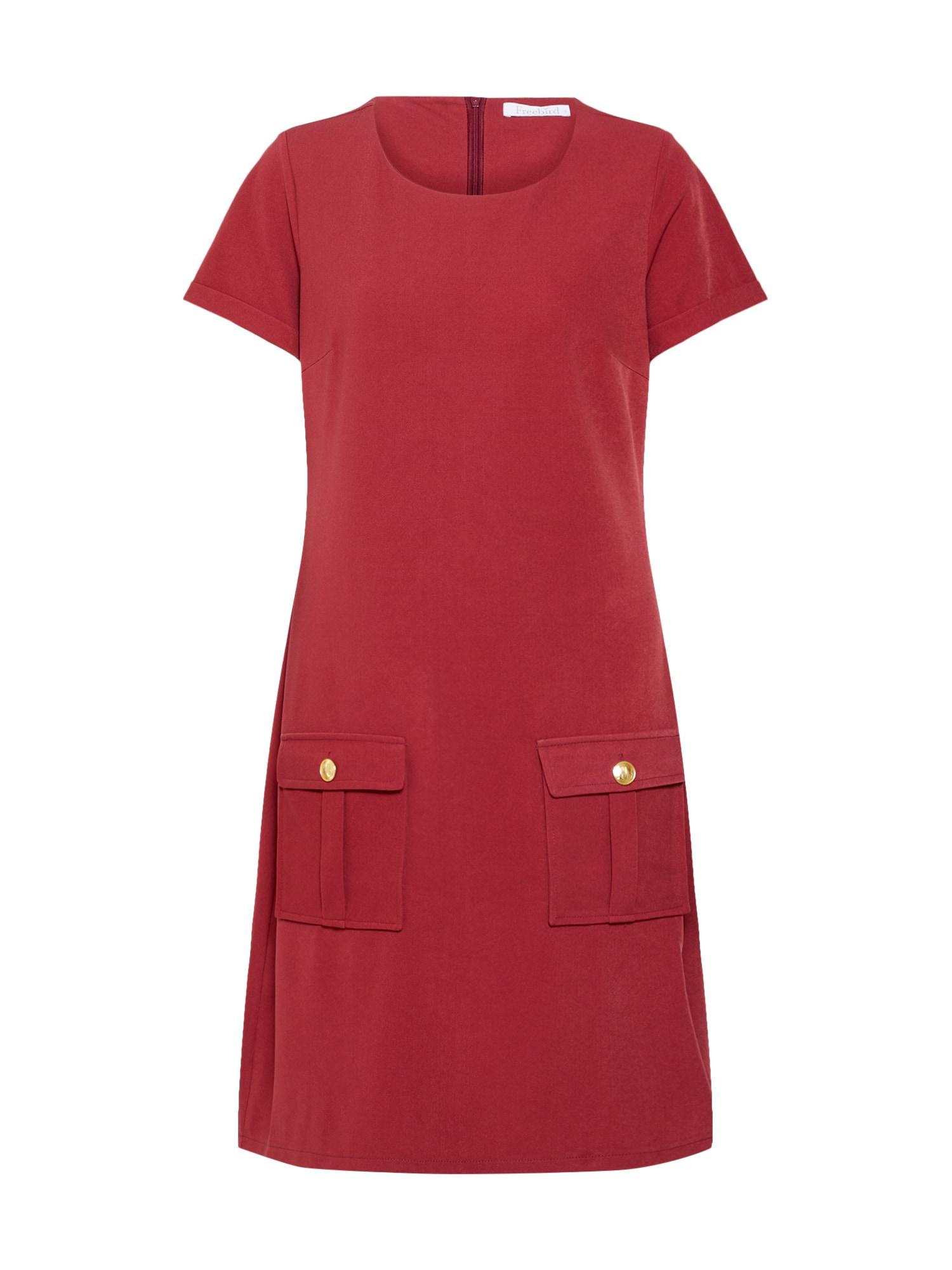 Letní šaty zlatá rezavě červená Freebird