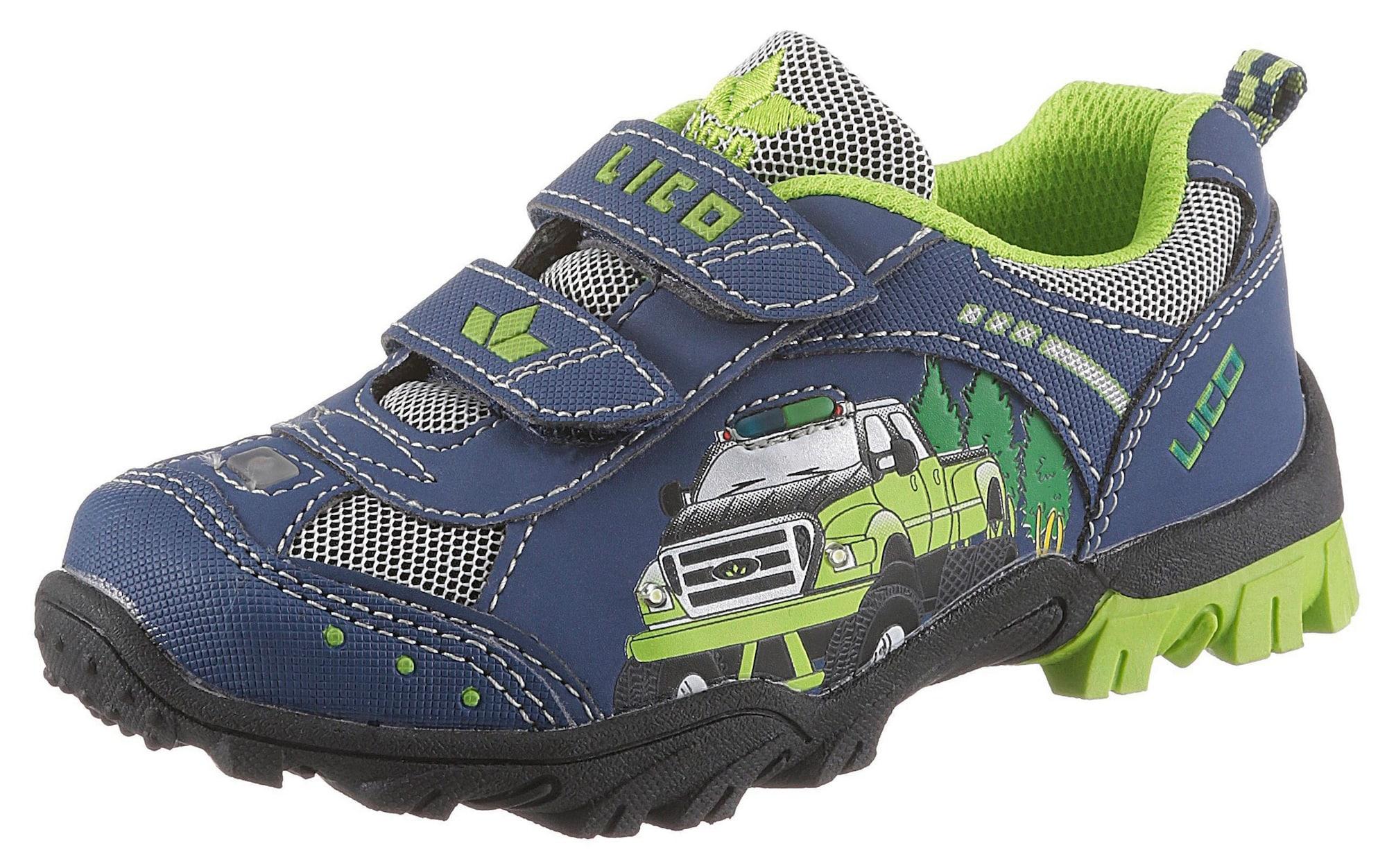 LICO Športová obuv 'Monstertruck'  námornícka modrá / neónovo zelená