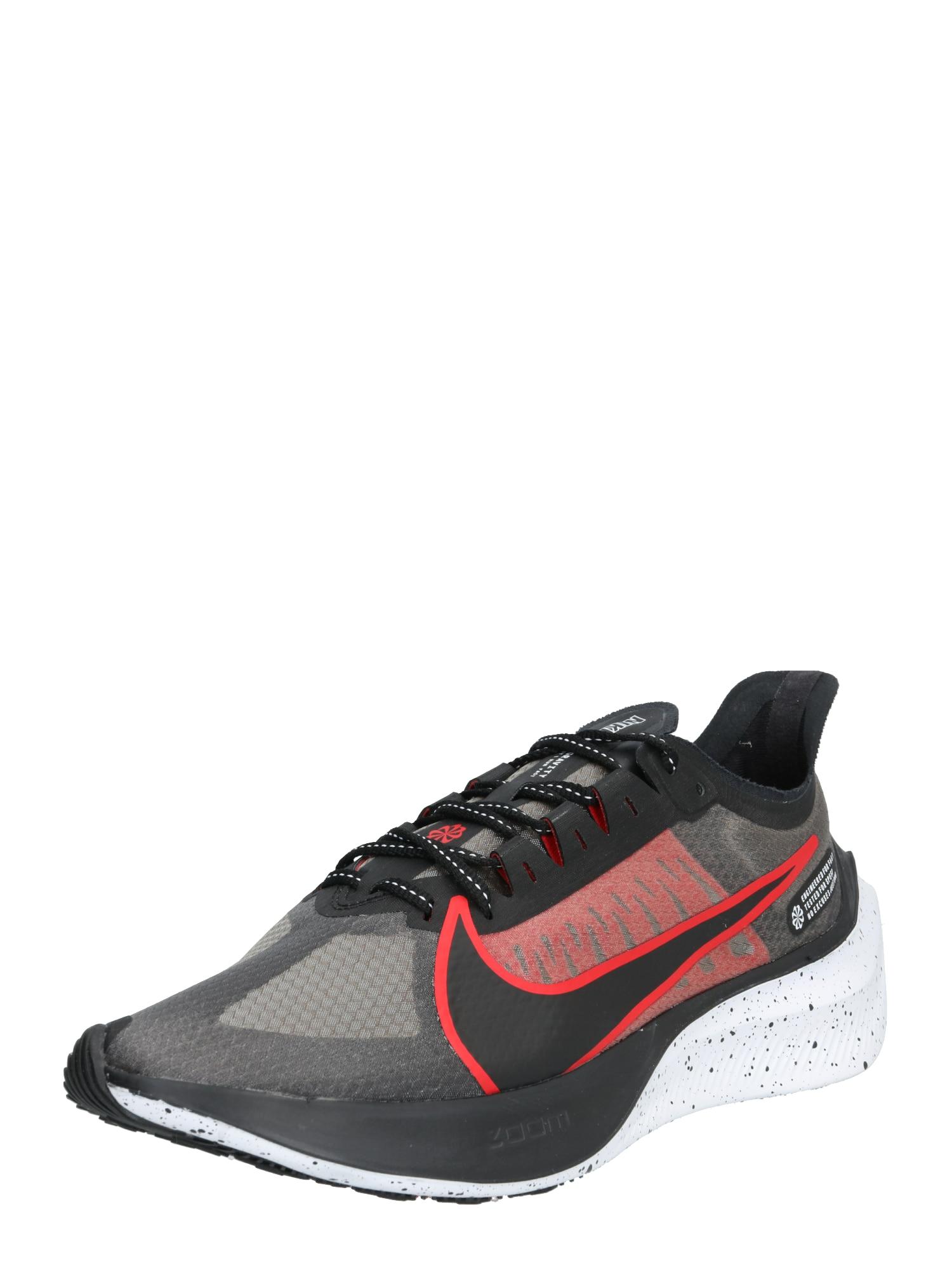 NIKE Bėgimo batai 'ZOOM GRAVITY' juoda / pilka / raudona