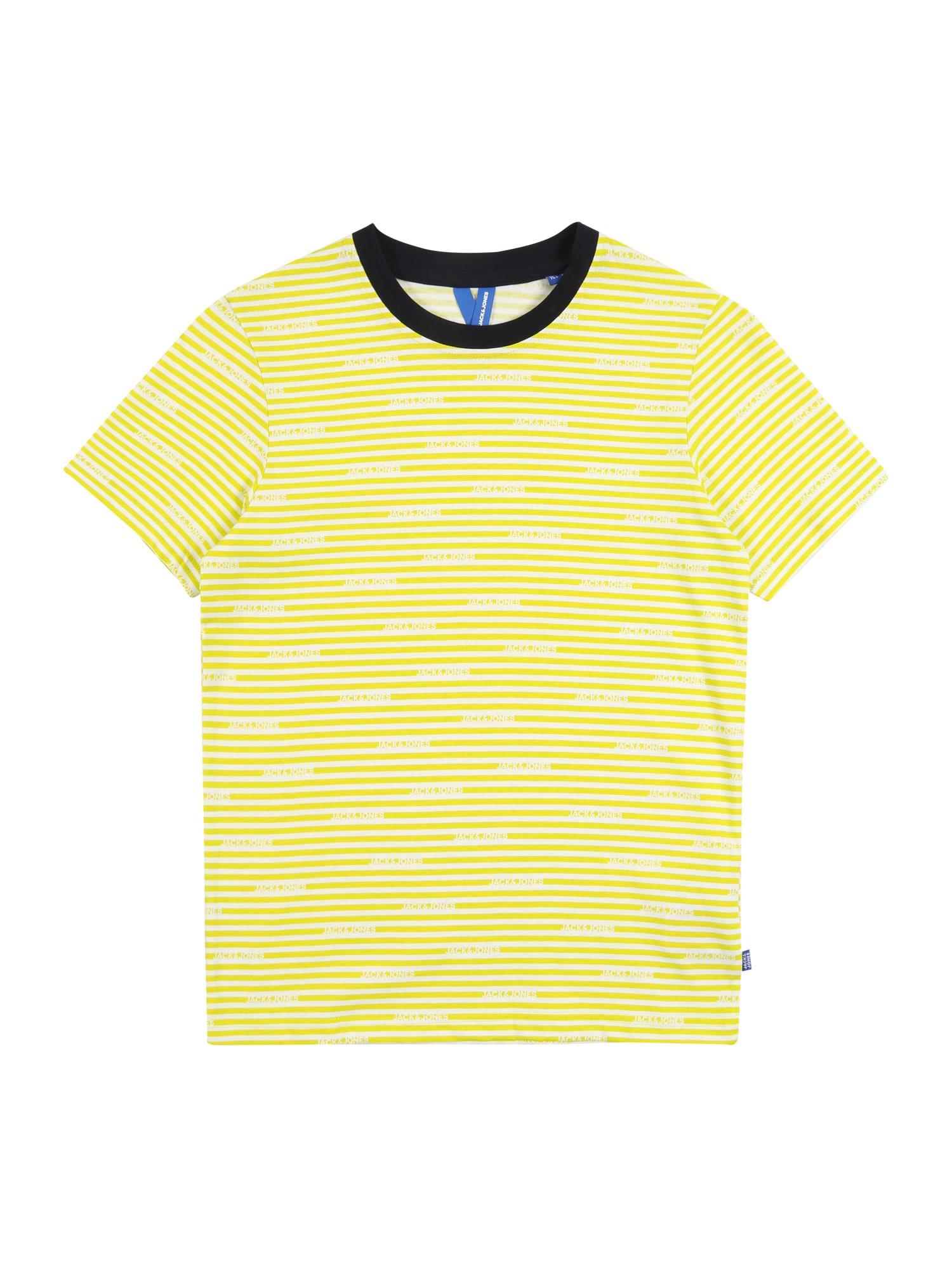 Jack & Jones Junior Marškinėliai 'JCOMIKS TEE SS CREW NECK JR' geltona