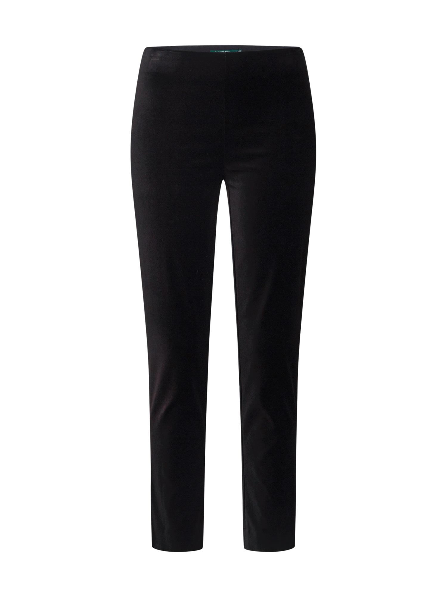 Lauren Ralph Lauren Pantaloni 'KESLINA-SKINNY-PANT'  negru