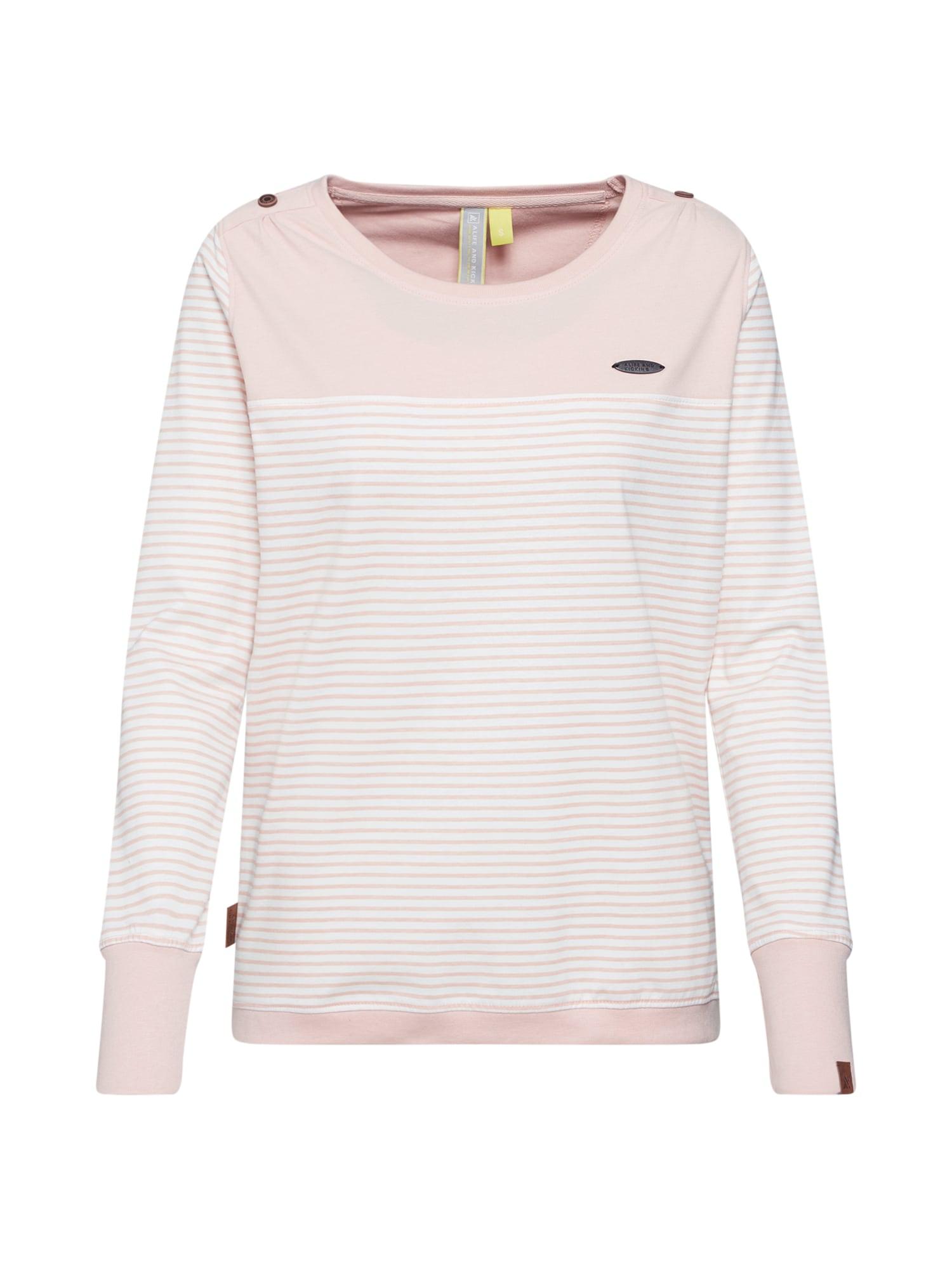 Tričko LEONIE C růžová bílá Alife And Kickin