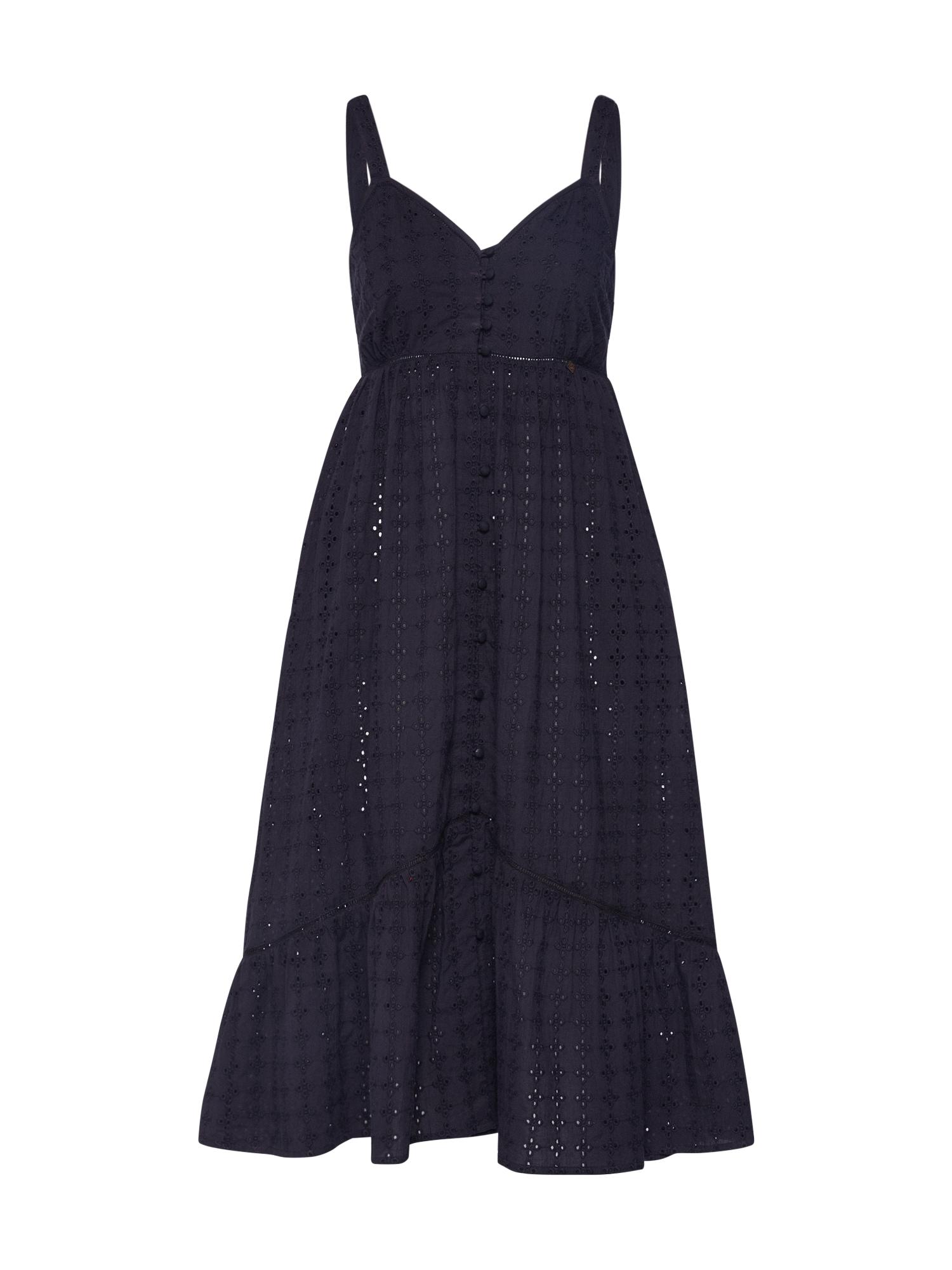 Superdry Šaty 'DAISY MIDI DRESS'  čierna
