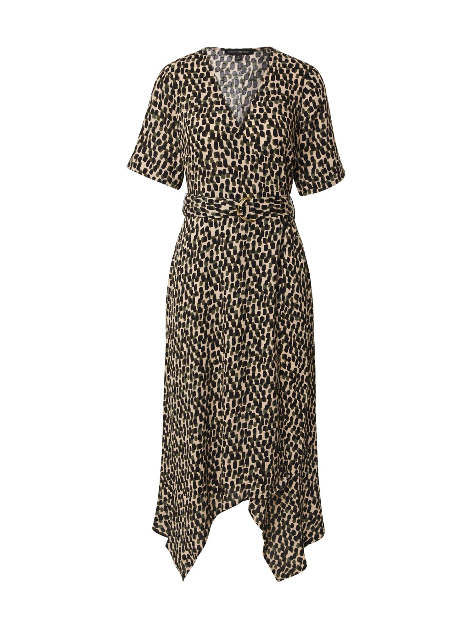 Banana Republic Suknelė kremo / juoda