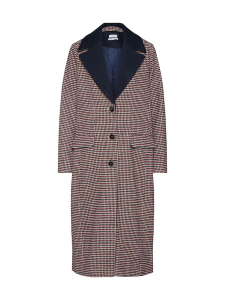 Jacken - Mantel 'Houndstooth Coat' › Re.draft › champagner navy rot  - Onlineshop ABOUT YOU