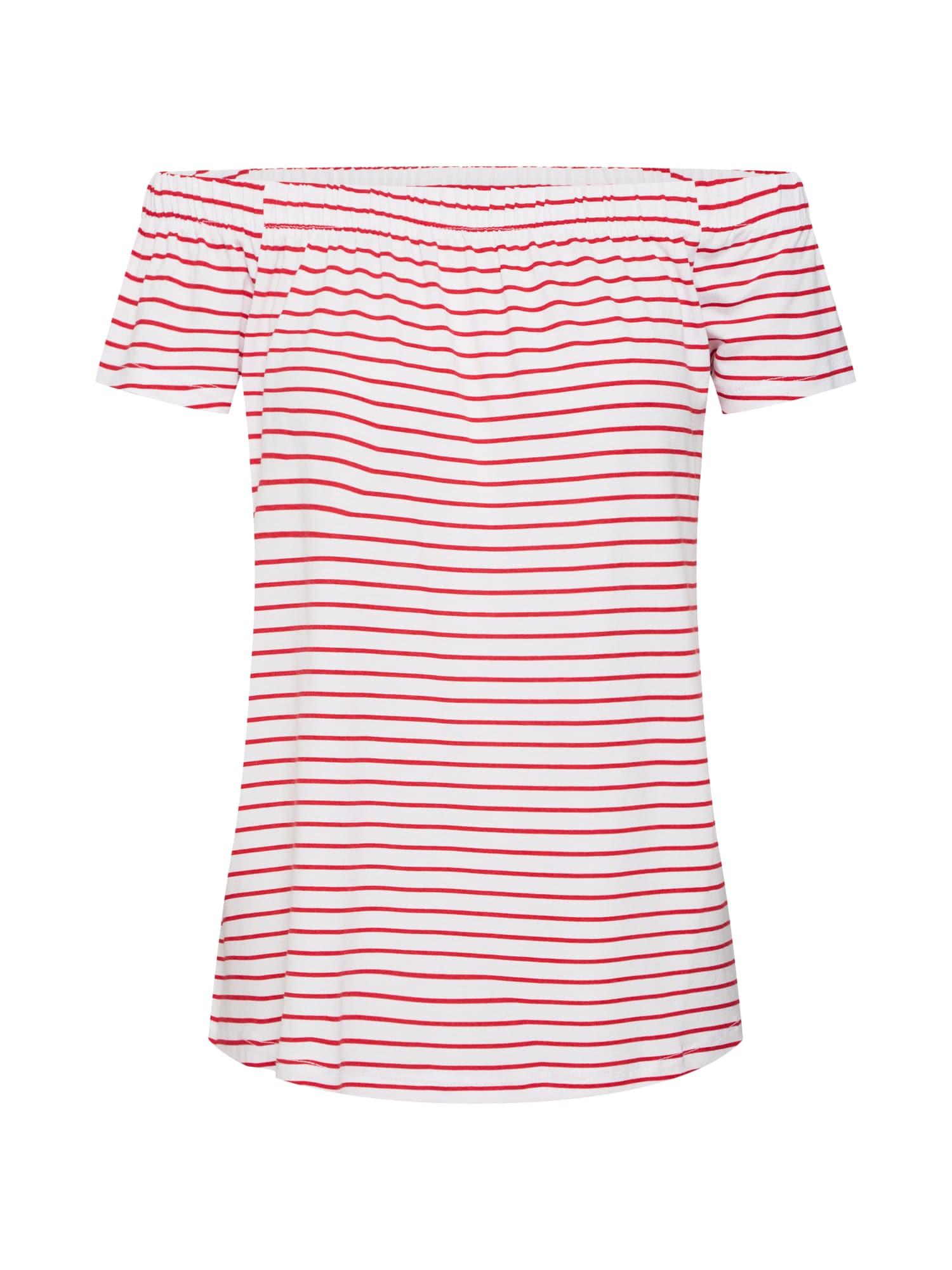 Sublevel Tricou 'Carmen'  roșu / alb