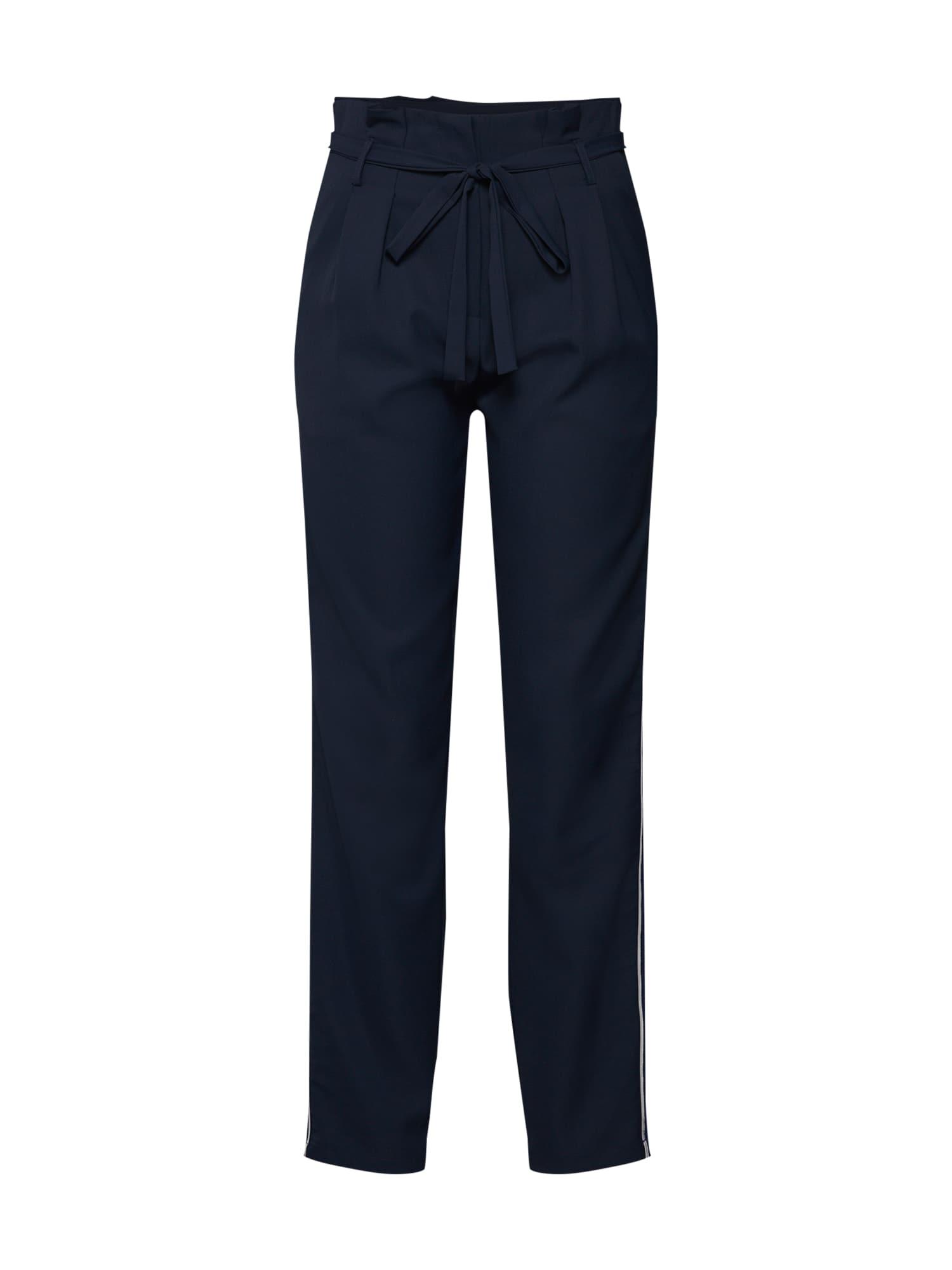 Kalhoty se sklady v pase PCSIMILAR MW noční modrá PIECES