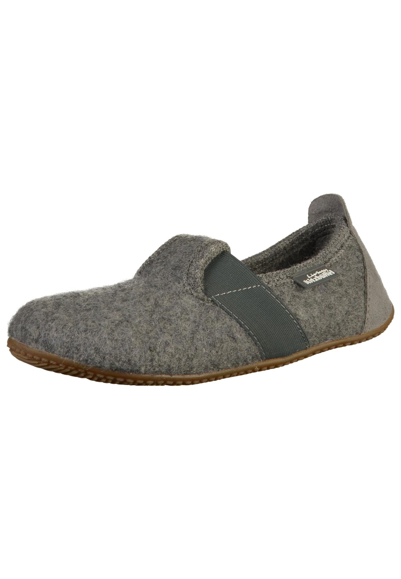 Pantofle šedá tmavě šedá Living Kitzbühel