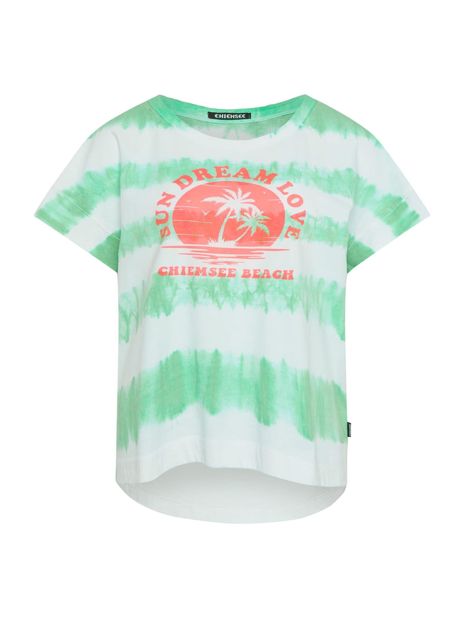CHIEMSEE Marškinėliai šviesiai žalia / balta