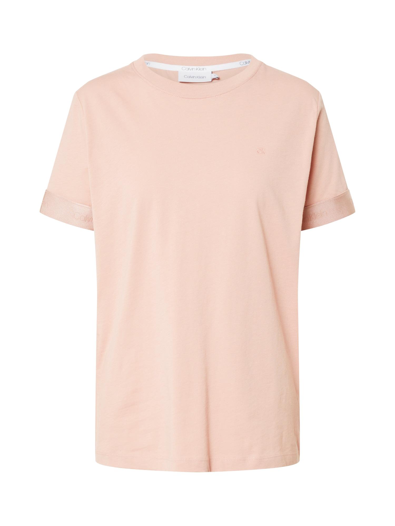 Calvin Klein Marškinėliai rožių spalva