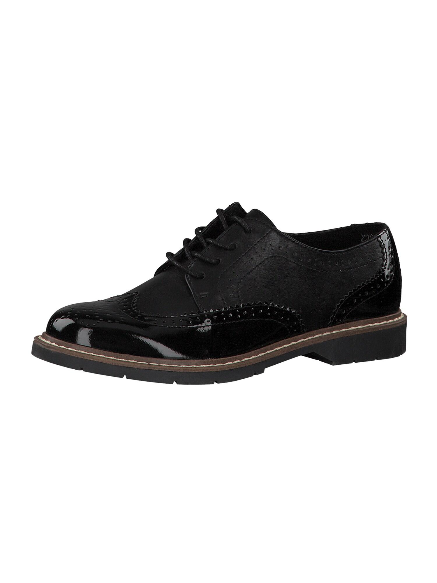 s.Oliver Šnurovacie topánky  čierna