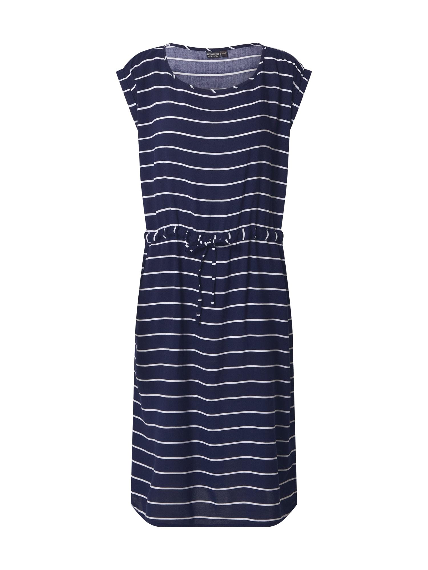 Eight2Nine Suknelė balta / tamsiai mėlyna