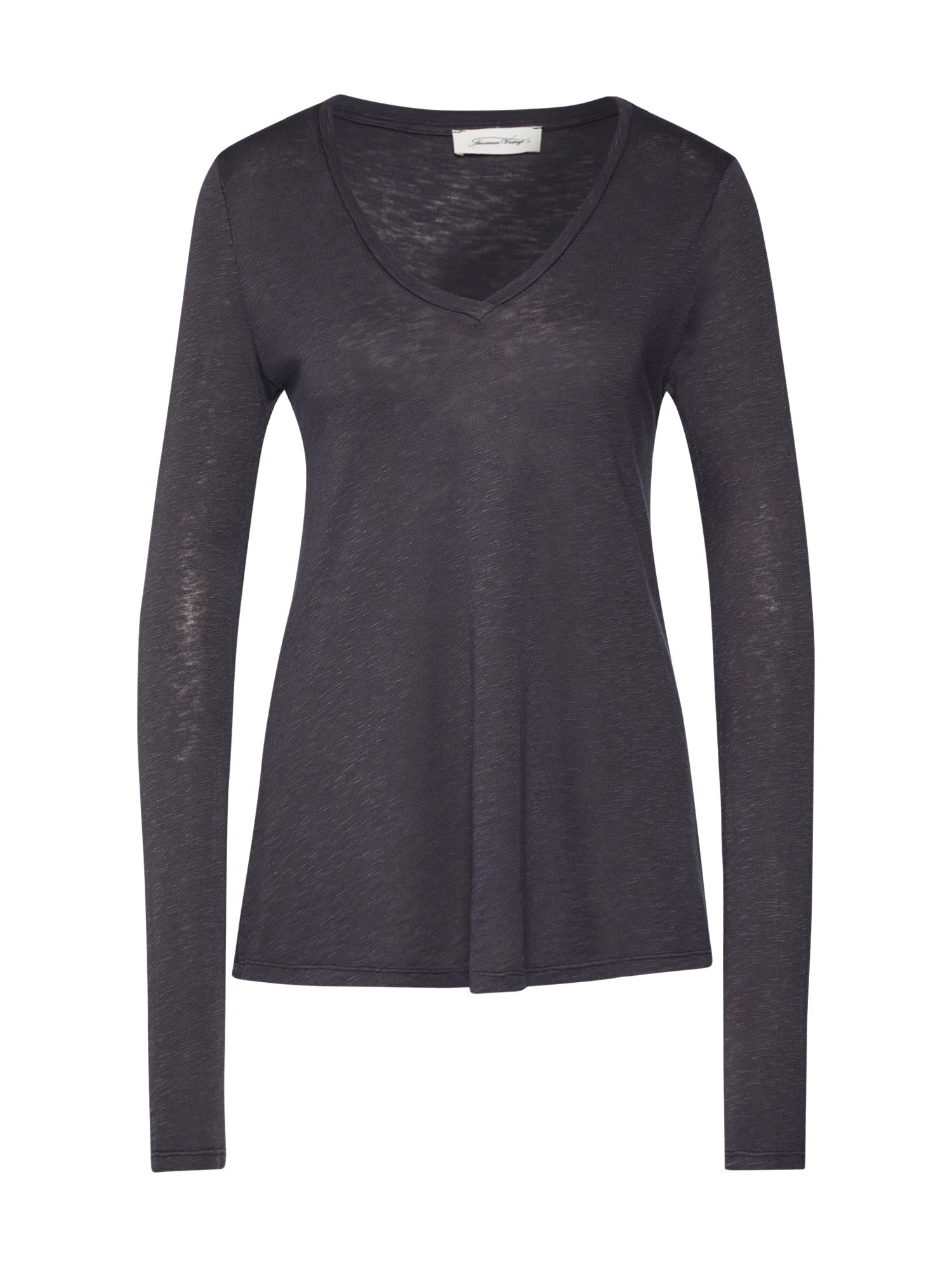 AMERICAN VINTAGE Marškinėliai 'KOBIBAY' tamsiai pilka