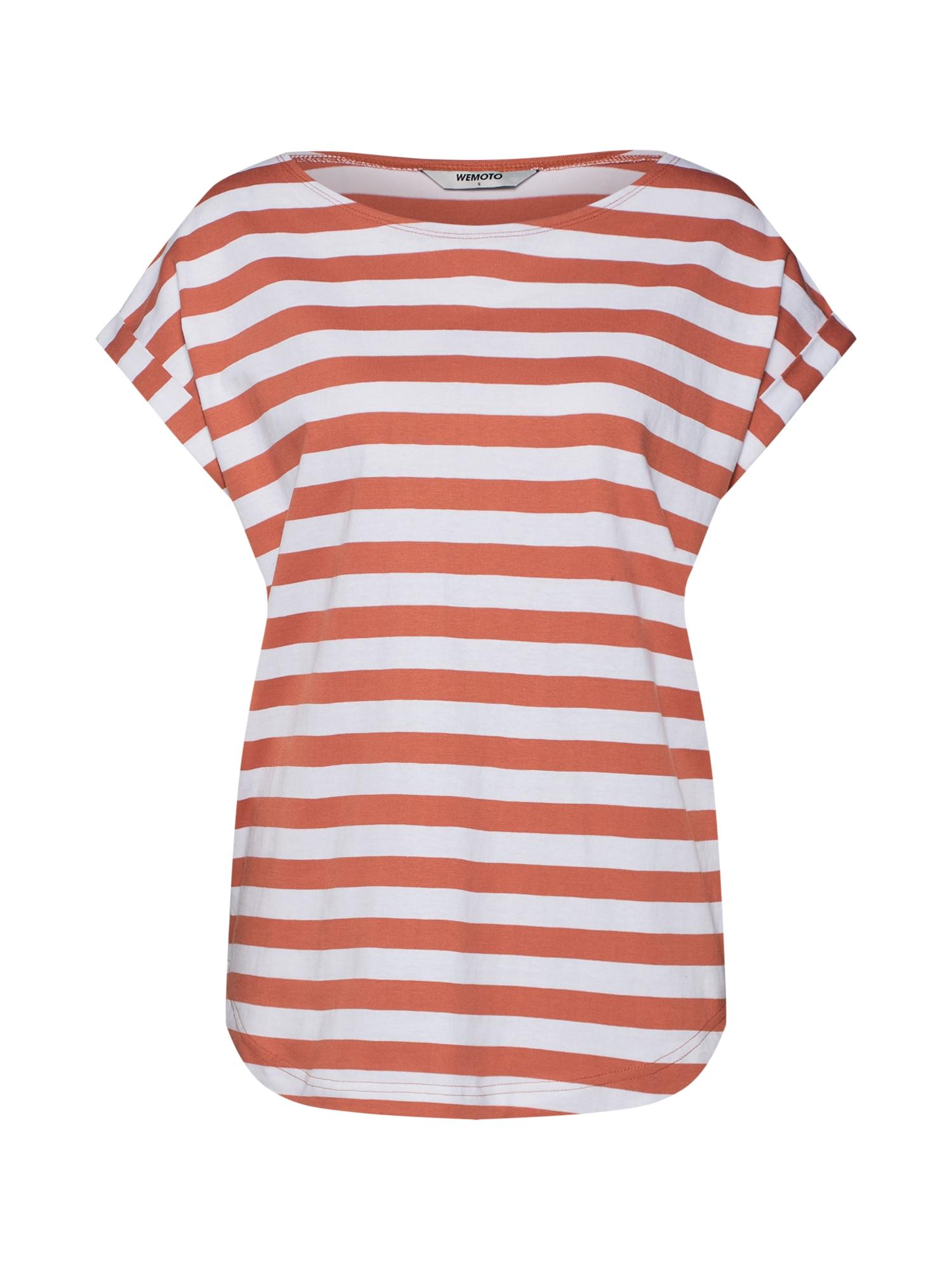 Tričko Bell Striped broskvová bílá Wemoto