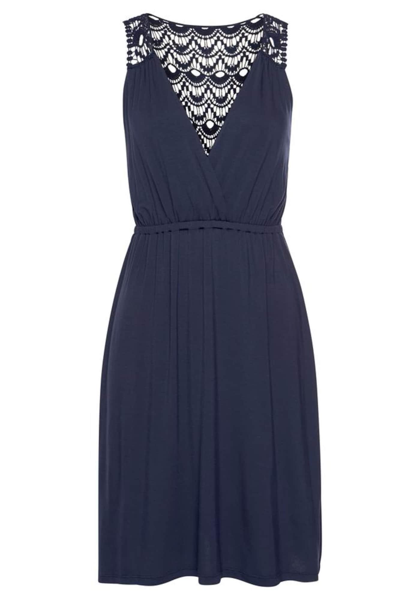 s.Oliver Paplūdimio suknelė tamsiai mėlyna jūros spalva