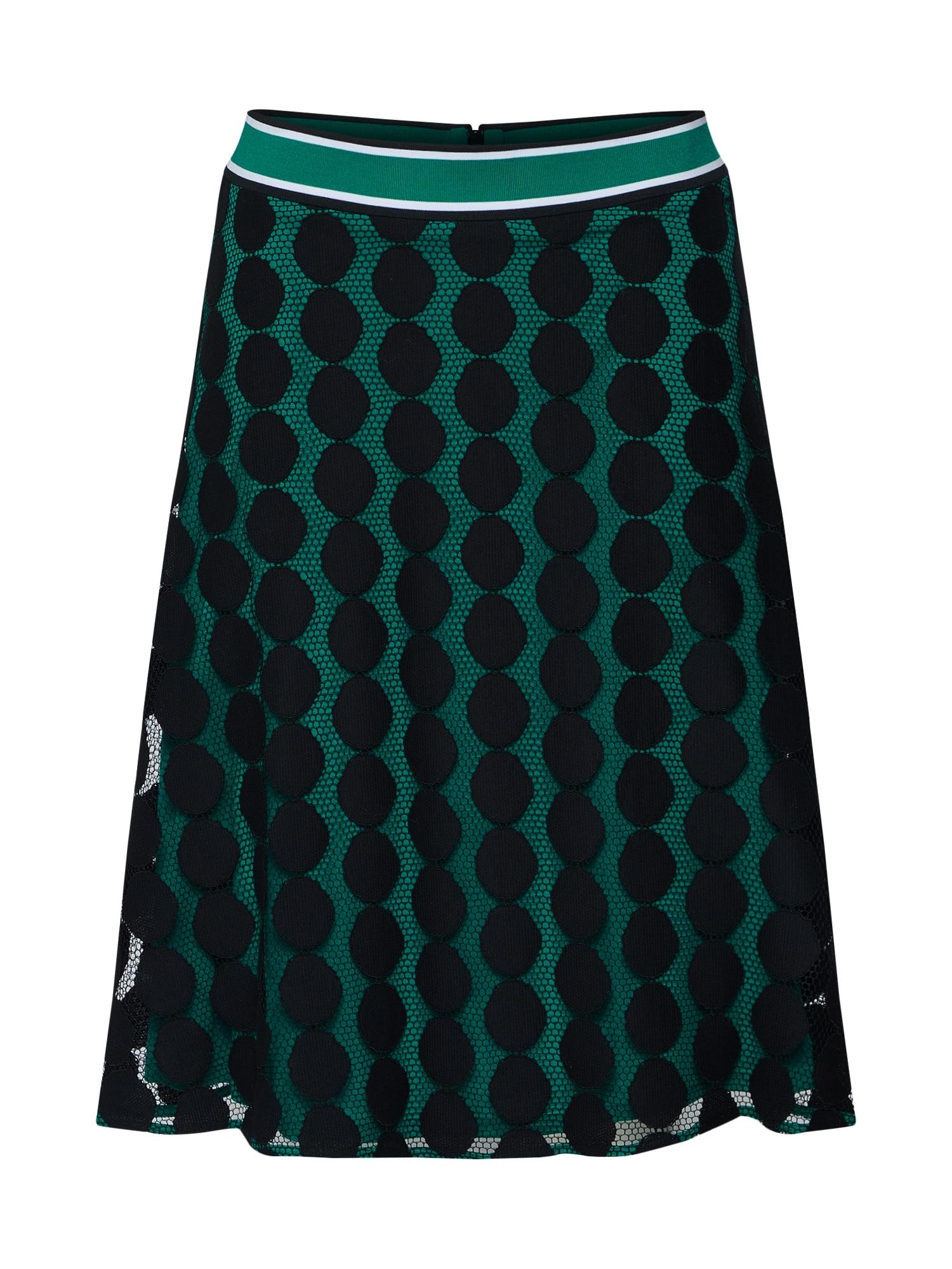Sukně zelená černá COMMA