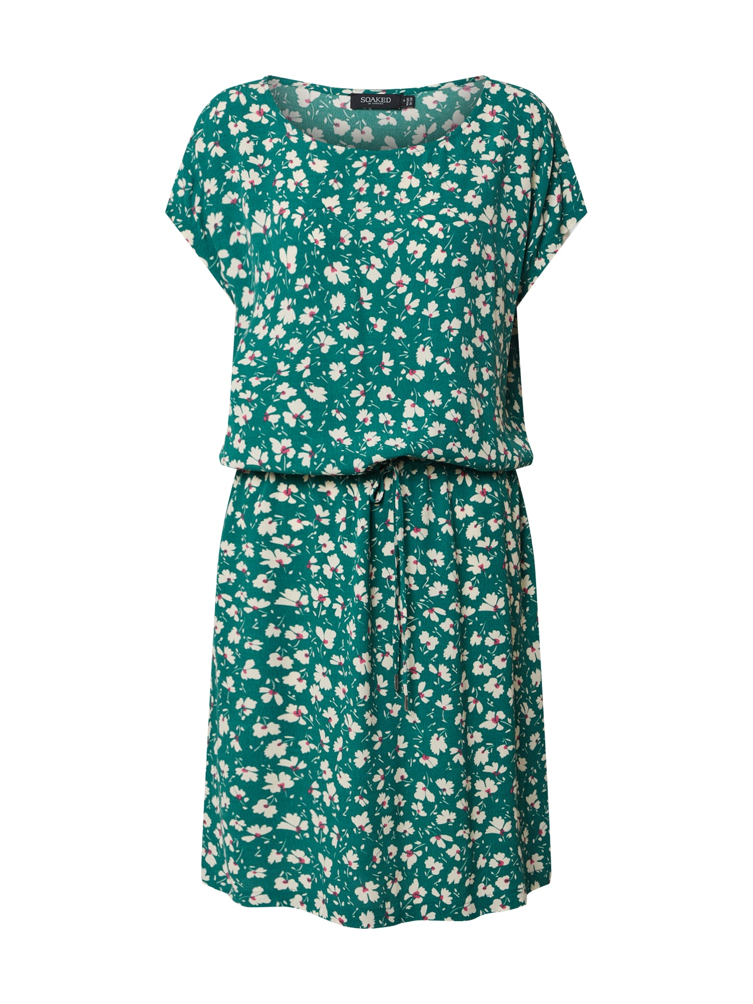 SOAKED IN LUXURY Letné šaty 'Lavada'  svetlozelená / biela