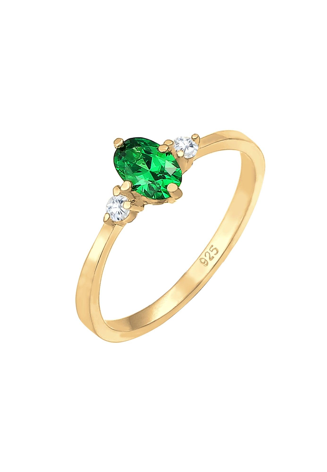 ELLI Žiedas auksas / žalia
