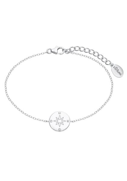 Armbaender für Frauen - Armband 'Kompass, 2025610' › S.Oliver › silber  - Onlineshop ABOUT YOU