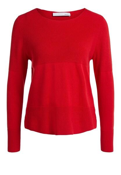 Oberteile für Frauen - OUI Pullover rot  - Onlineshop ABOUT YOU