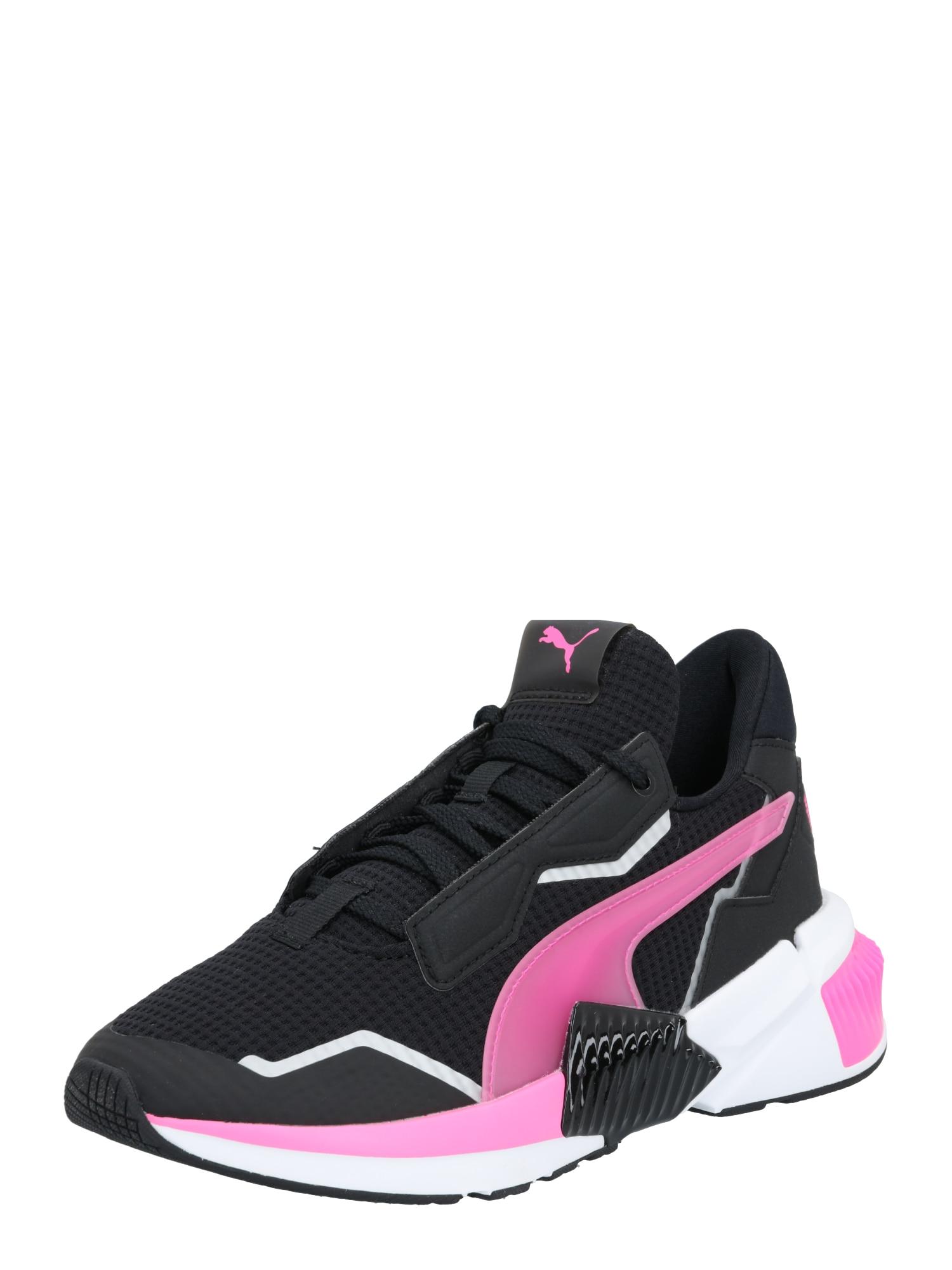PUMA Sportiniai batai balta / rožinė / juoda