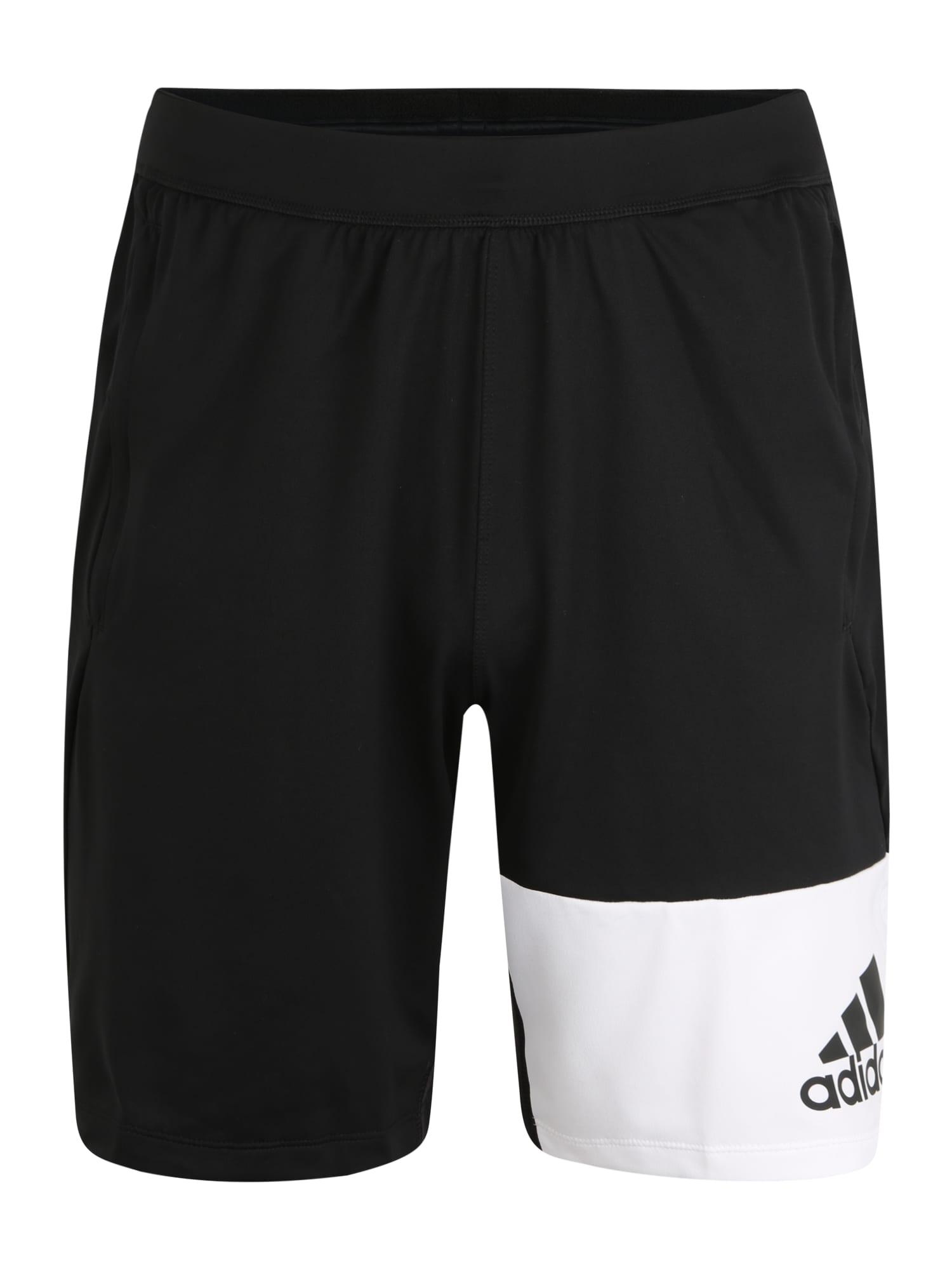 ADIDAS PERFORMANCE Sportinės kelnės '4K GEO SHORTS' balta / juoda