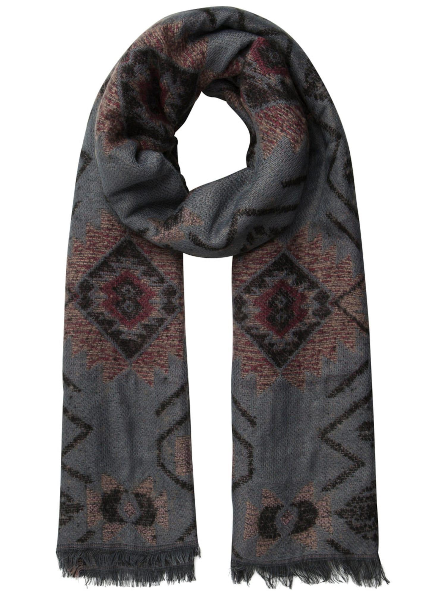 Schals für Frauen - PIECES Langer Schal dunkelgrau dunkelrot schwarz  - Onlineshop ABOUT YOU