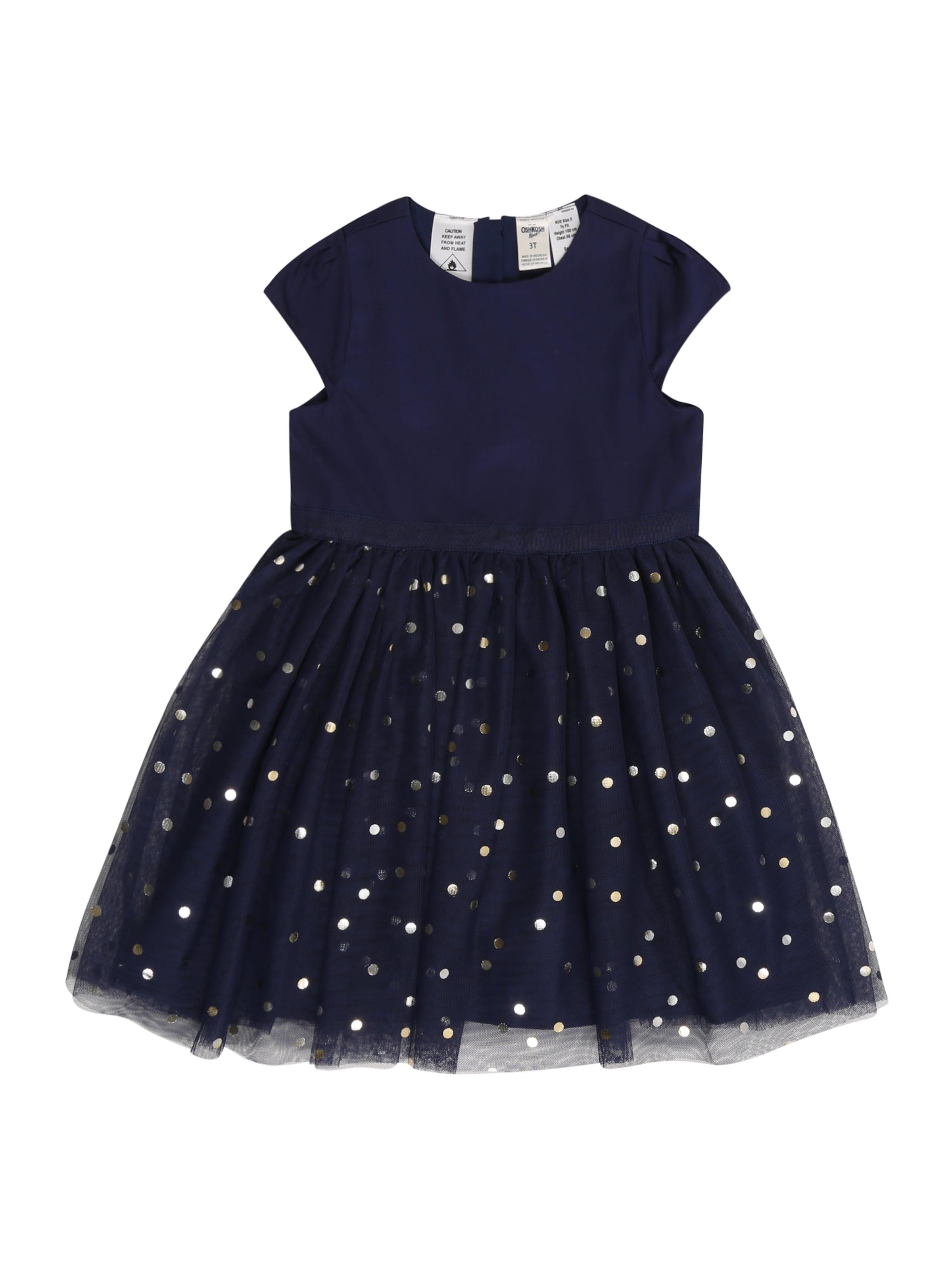 Kinder,  Mädchen,  Kinder OshKosh Kleid blau, blau,  orange,  weiß | 00192136387299