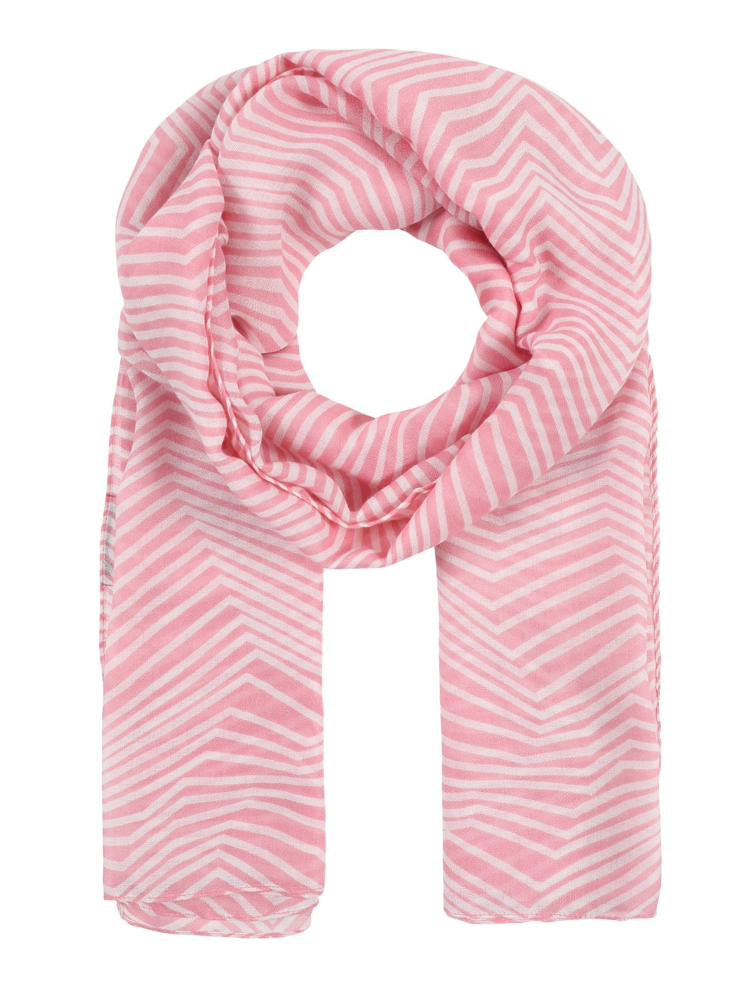 Schals für Frauen - PIECES Tuch mit Zick Zack Muster 'PCGUINEVERE' pink weiß  - Onlineshop ABOUT YOU