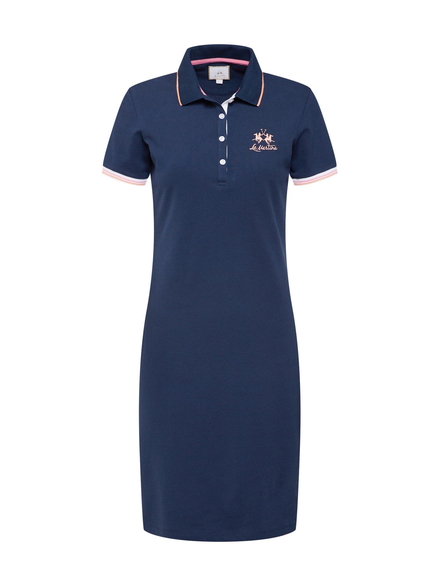 Šaty WOMAN DRESS PIQUET STRETCH námořnická modř La Martina