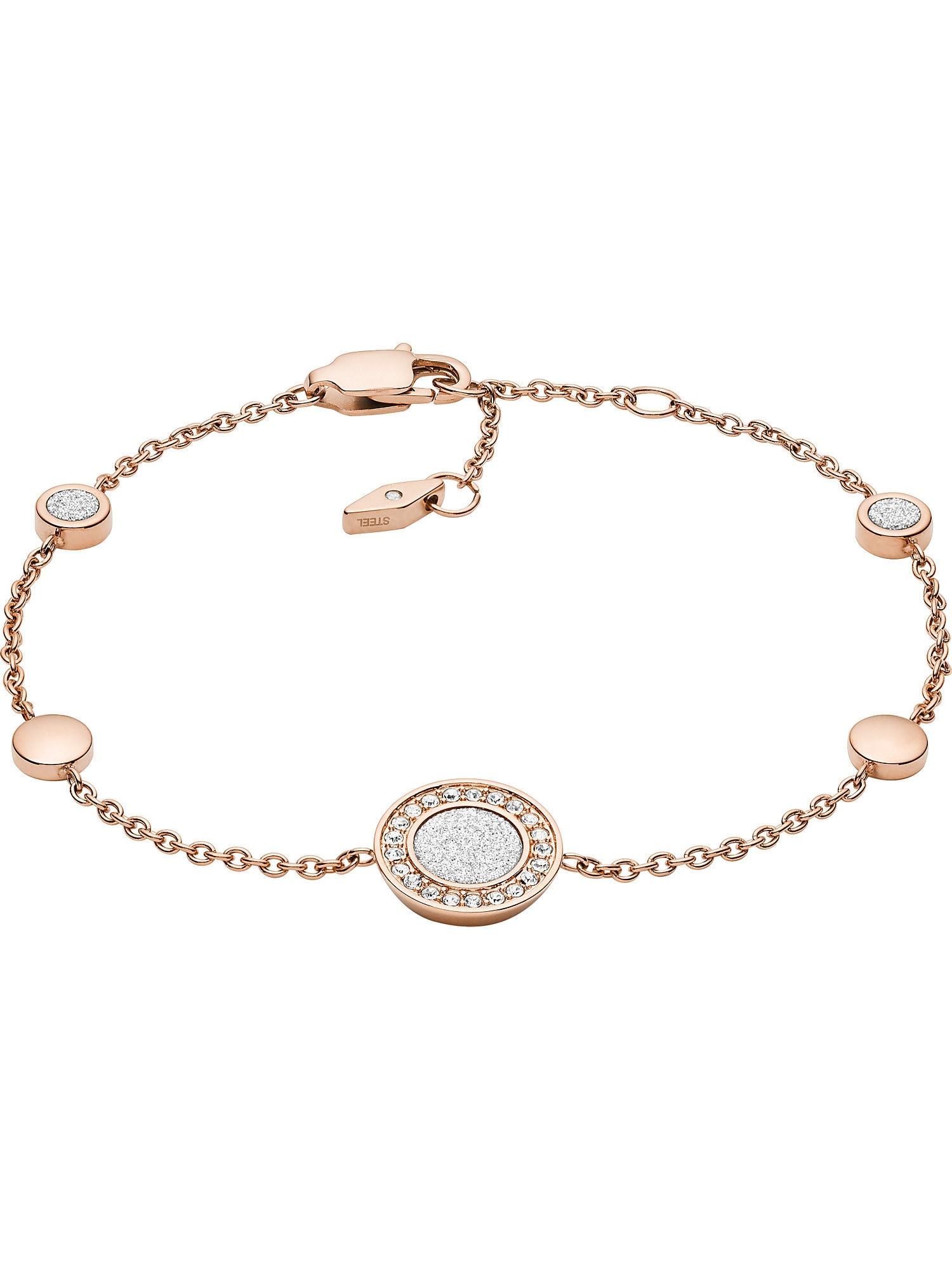 FOSSIL Apyrankė balta / rožinio aukso spalva