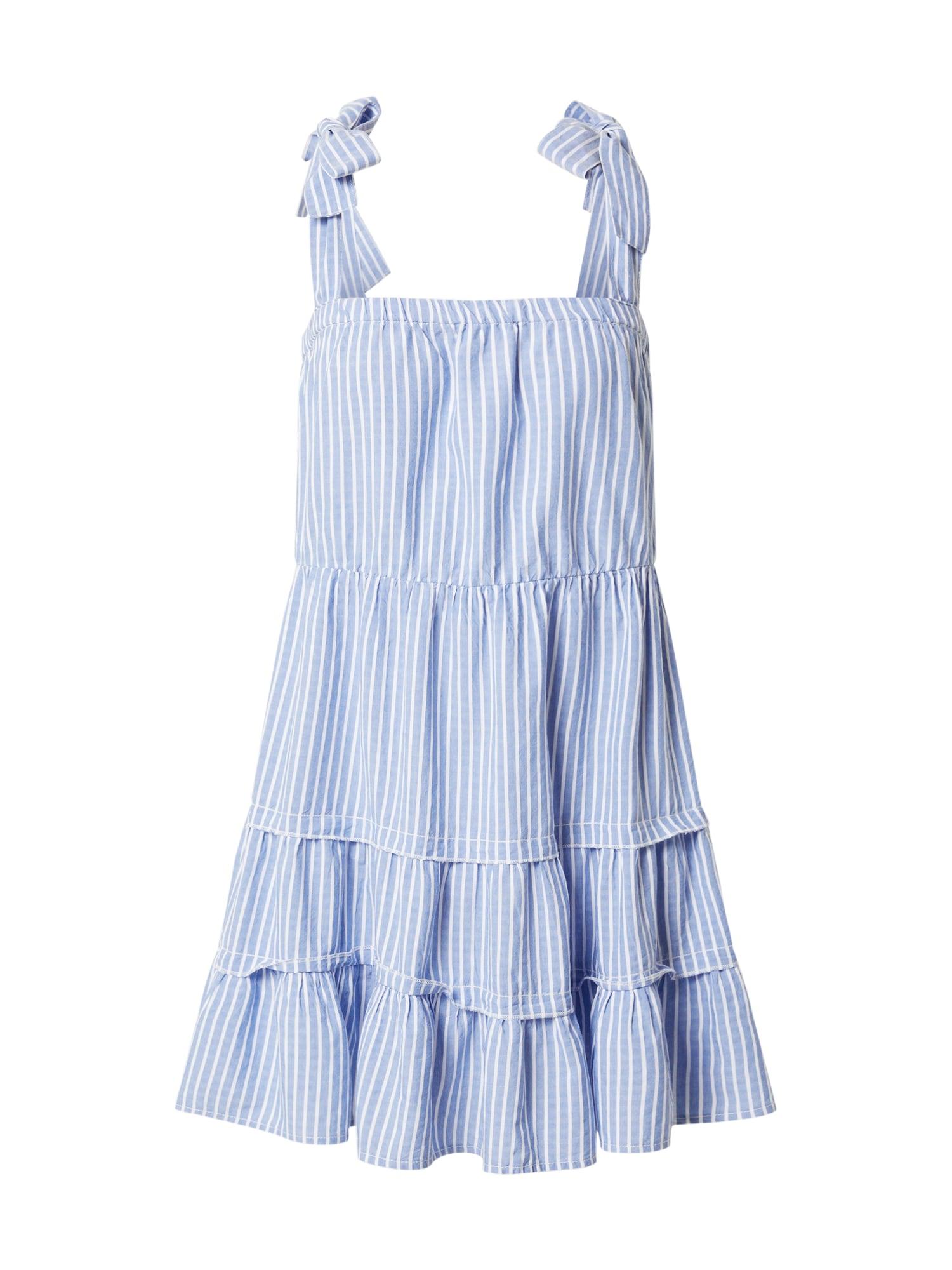 ONLY Šaty 'ONLGERRY'  šedobiela / modré