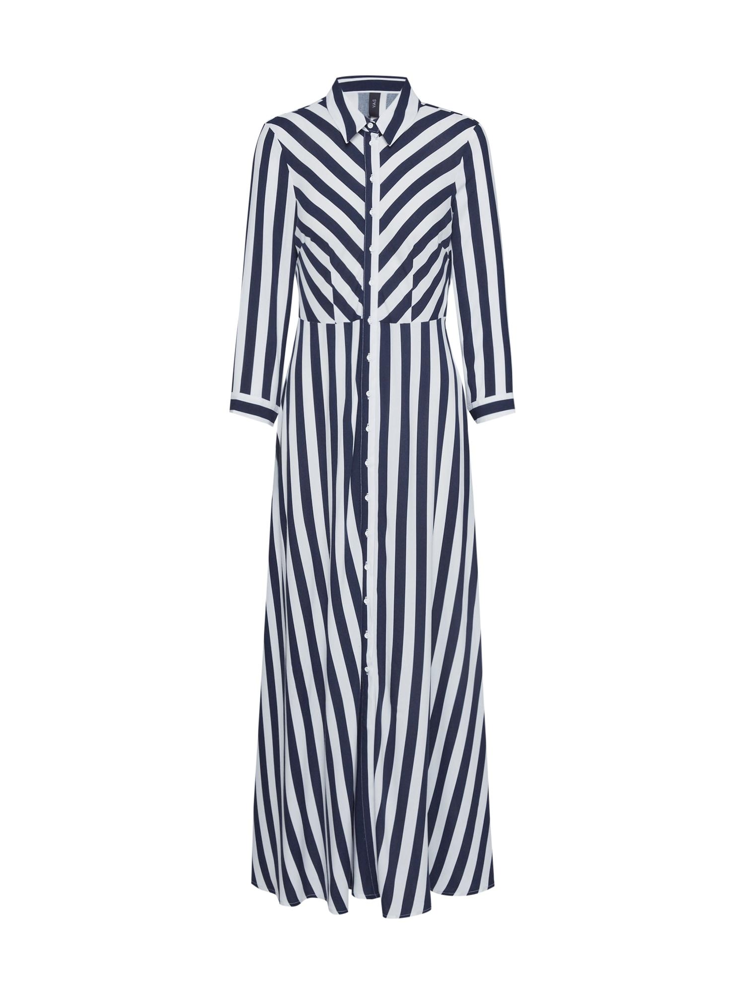 Y.A.S Košeľové šaty 'YASSAVANNA'  modrá / biela