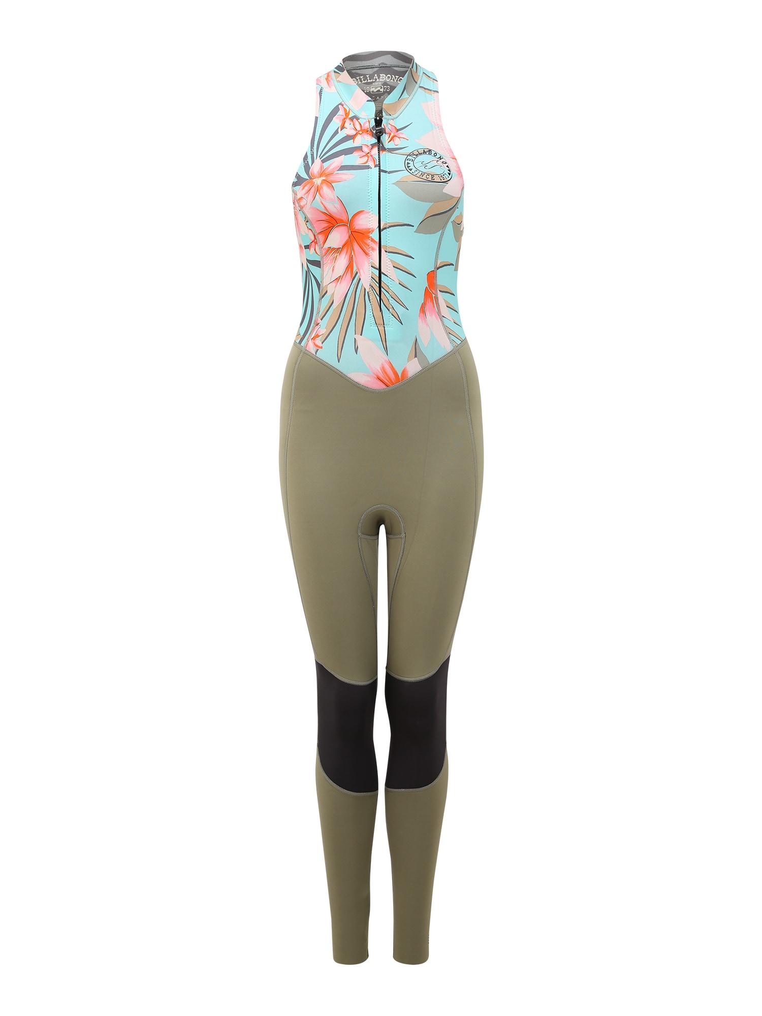 BILLABONG Nardymo kostiumas 'Salty Jane' rožių spalva / rusvai žalia / šviesiai mėlyna