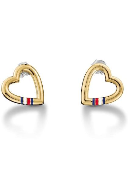 Ohrringe für Frauen - TOMMY HILFIGER Ohrstecker 'Herz, Classic Signature, 2700910' gold  - Onlineshop ABOUT YOU