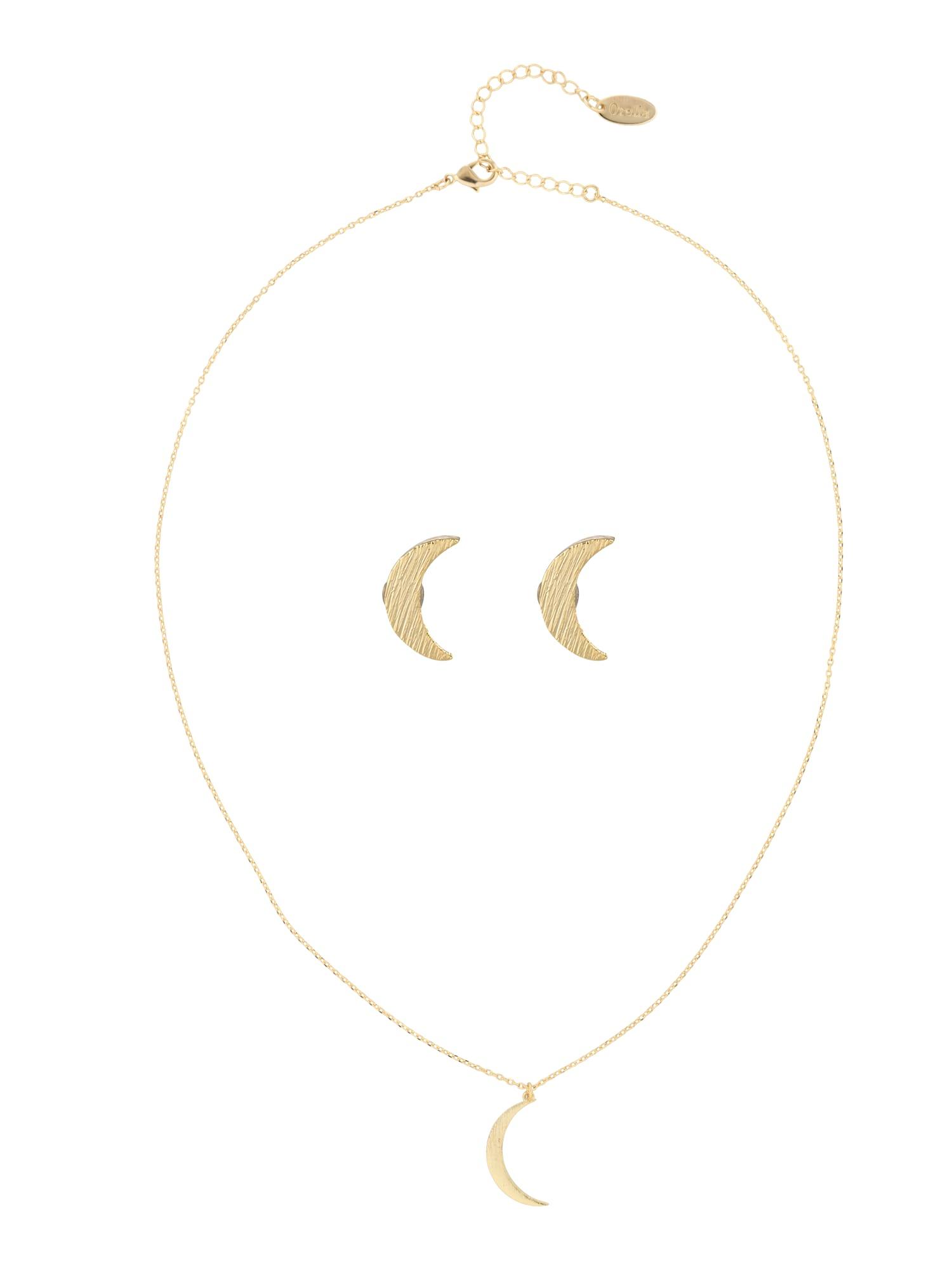 Schmucksets für Frauen - Orelia Schmuck Set 'Brushed Moon Giftbox Set' gold  - Onlineshop ABOUT YOU