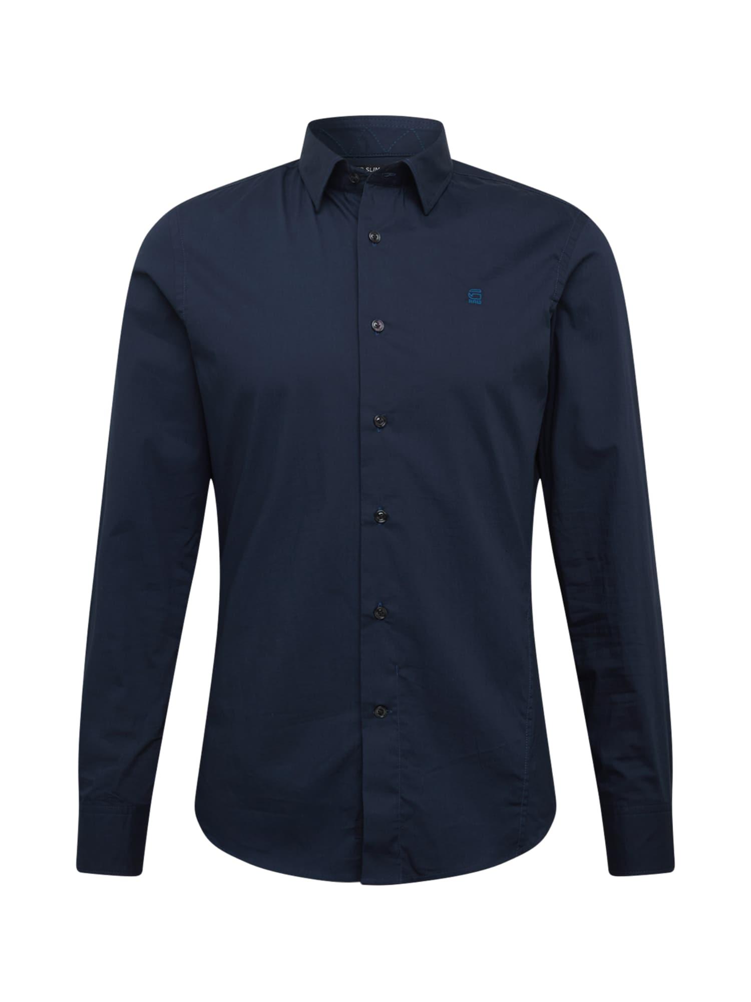 G-Star RAW Marškiniai tamsiai mėlyna