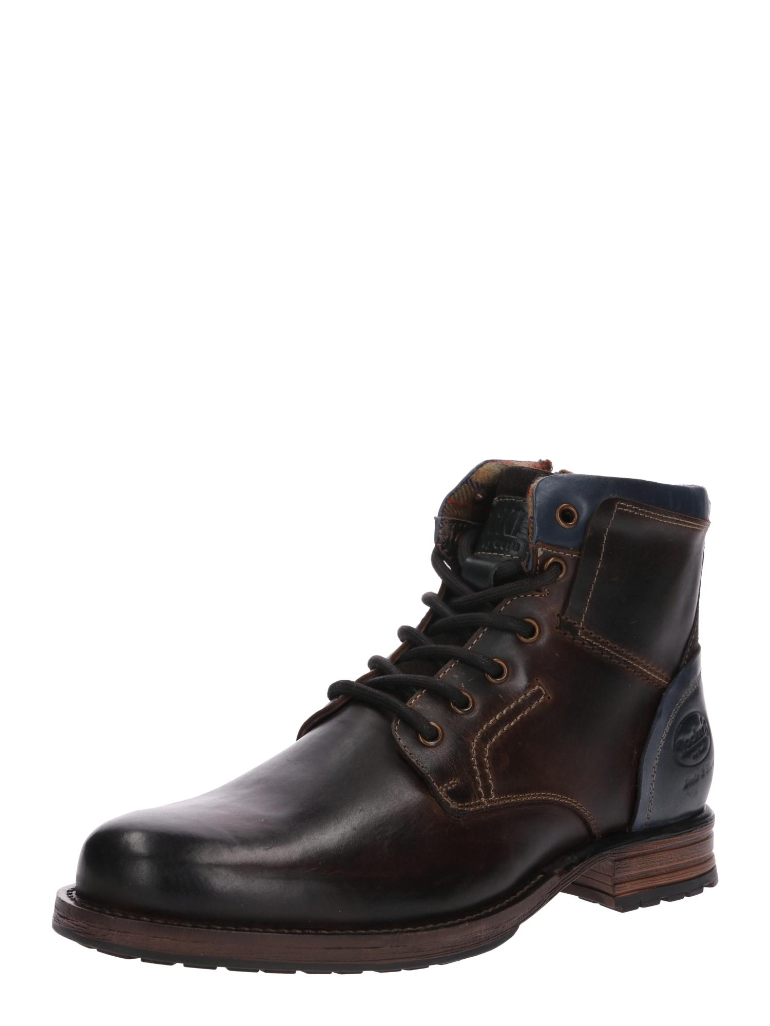 Dockers by Gerli Auliniai batai su raišteliais tamsiai ruda / tamsiai mėlyna
