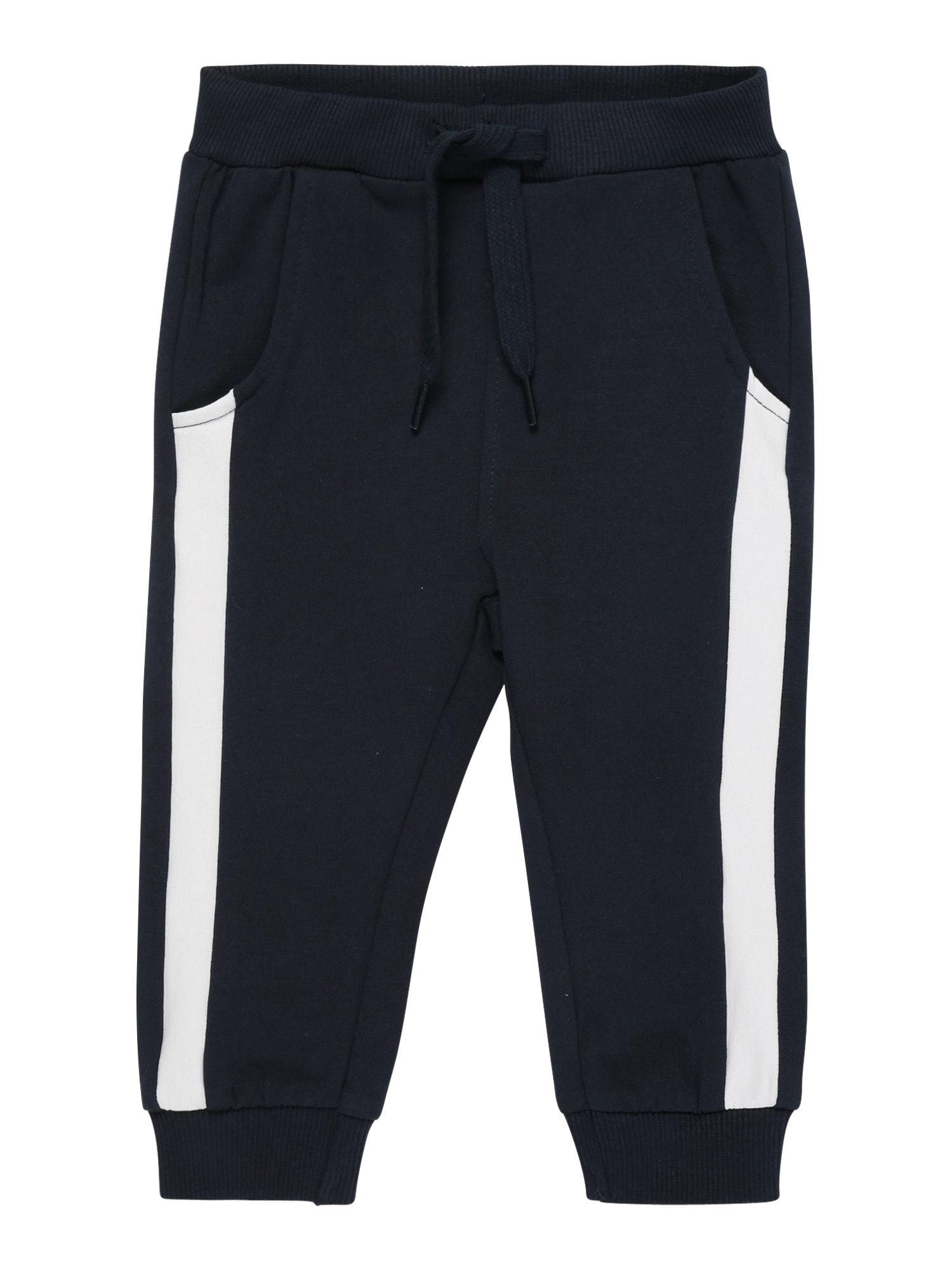 NAME IT Kalhoty 'NBMHEFIK'  tmavě modrá / bílá