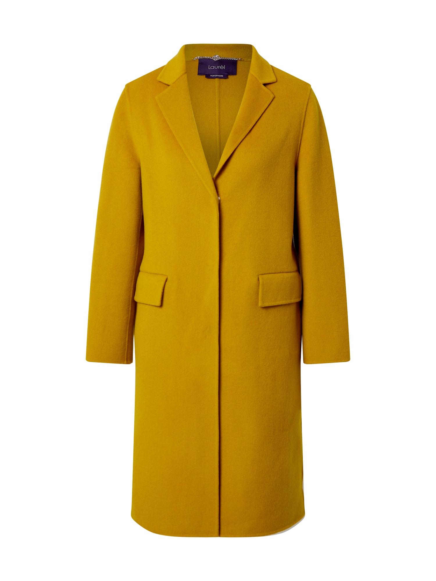 LAUREL Demisezoninis paltas garstyčių spalva