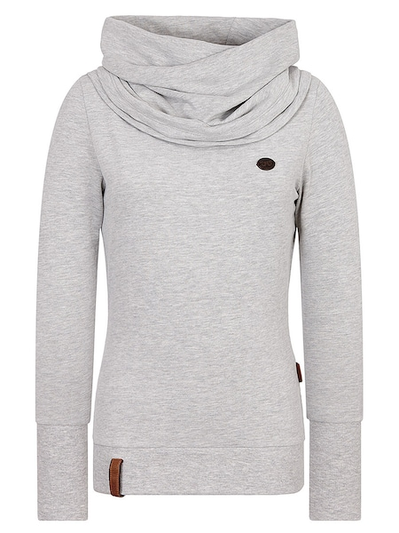Oberteile für Frauen - Sweatshirt 'Kurzer Schniedelwutz' › Naketano › graumeliert  - Onlineshop ABOUT YOU