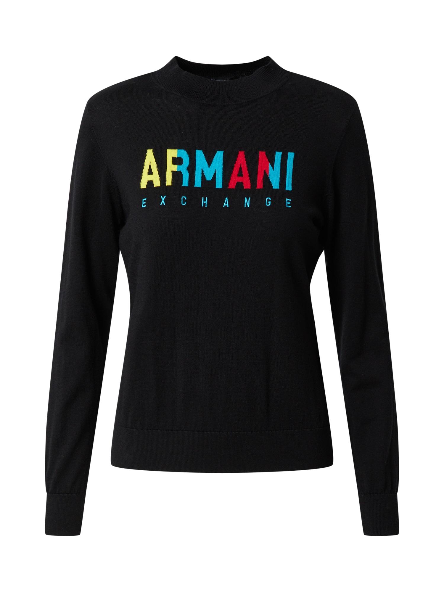 ARMANI EXCHANGE Marškinėliai juoda