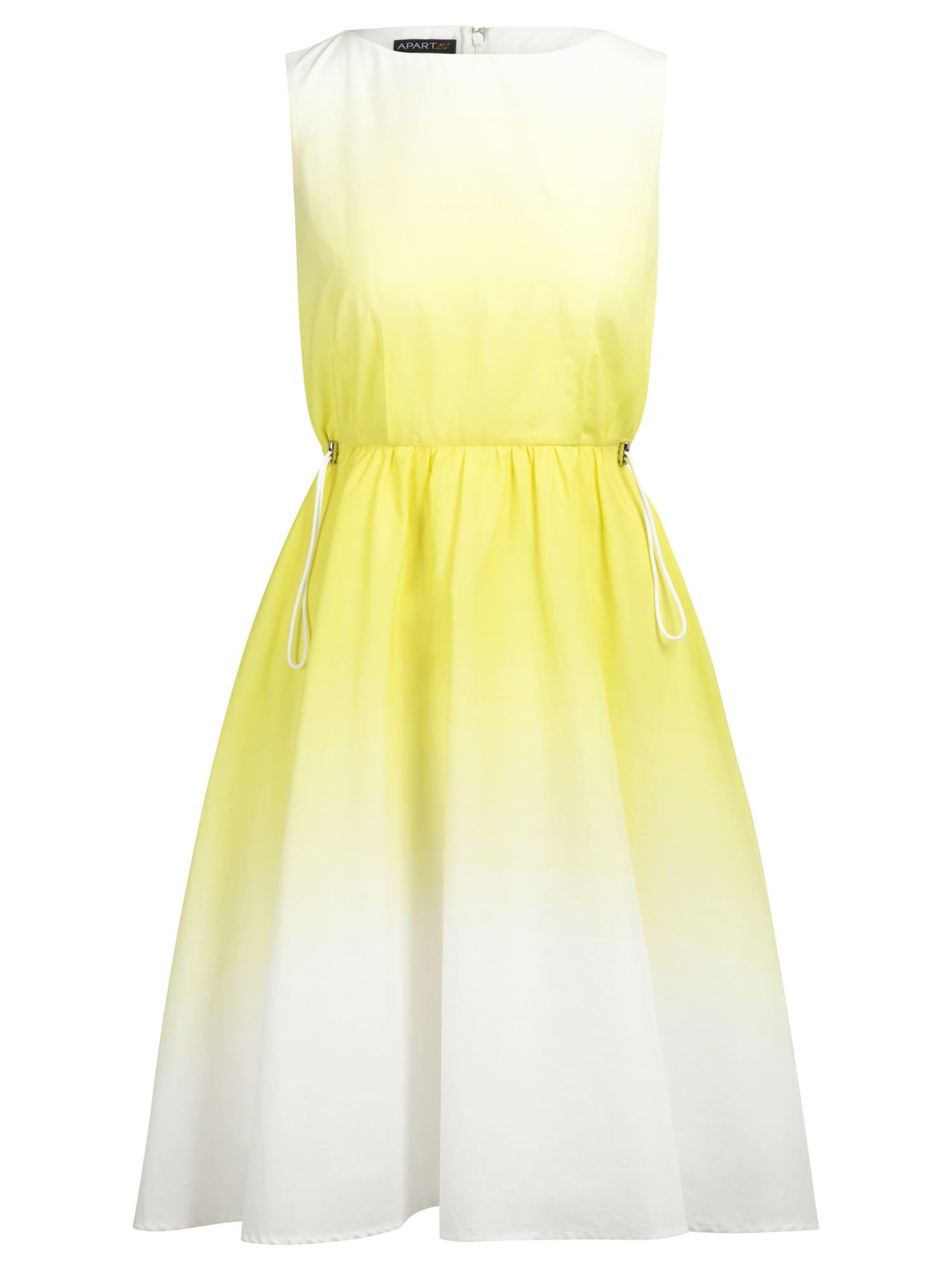 APART Vasarinė suknelė geltona / balta