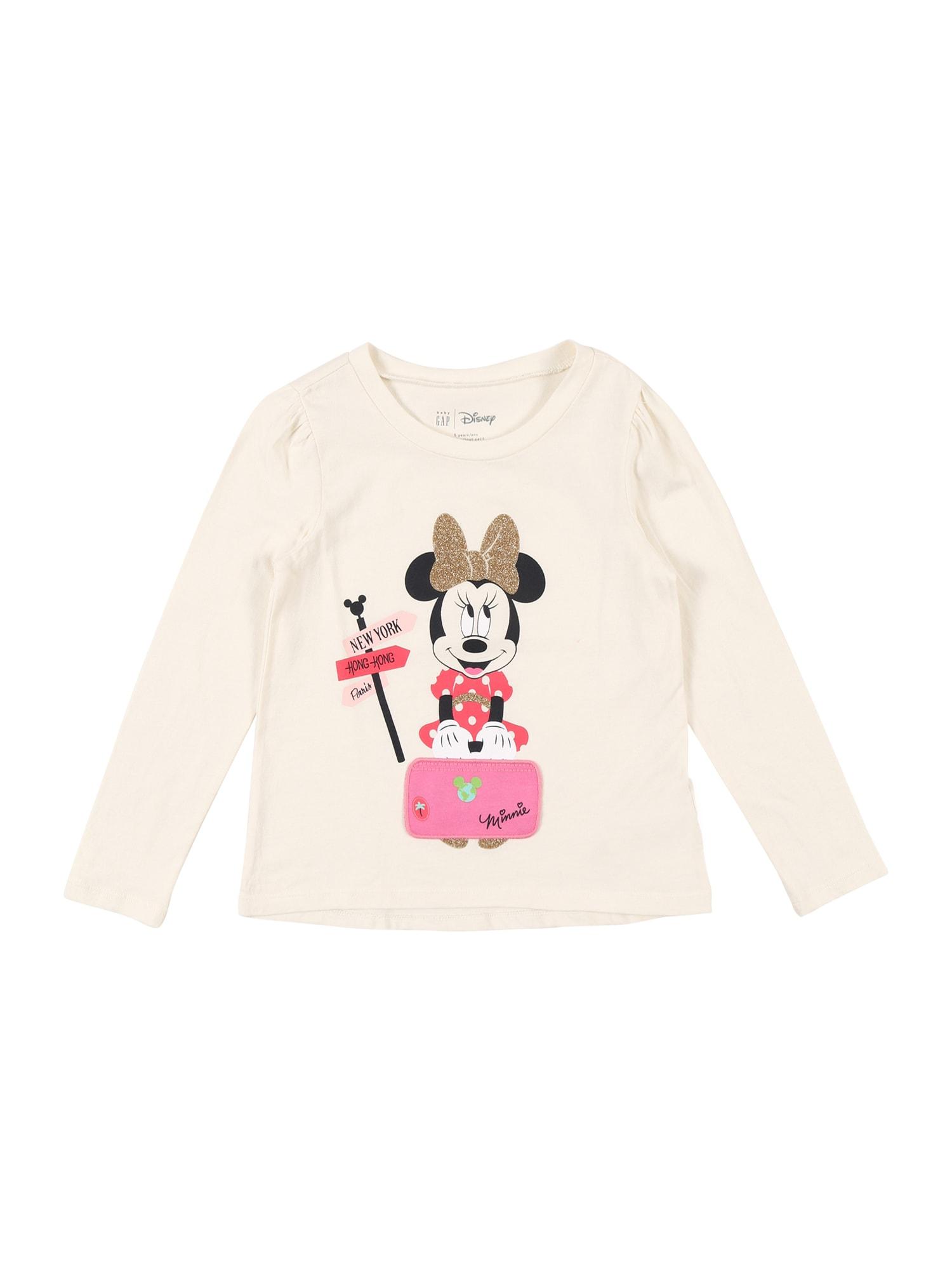 GAP Marškinėliai dramblio kaulo / rožinė / juoda / auksas / rožių spalva