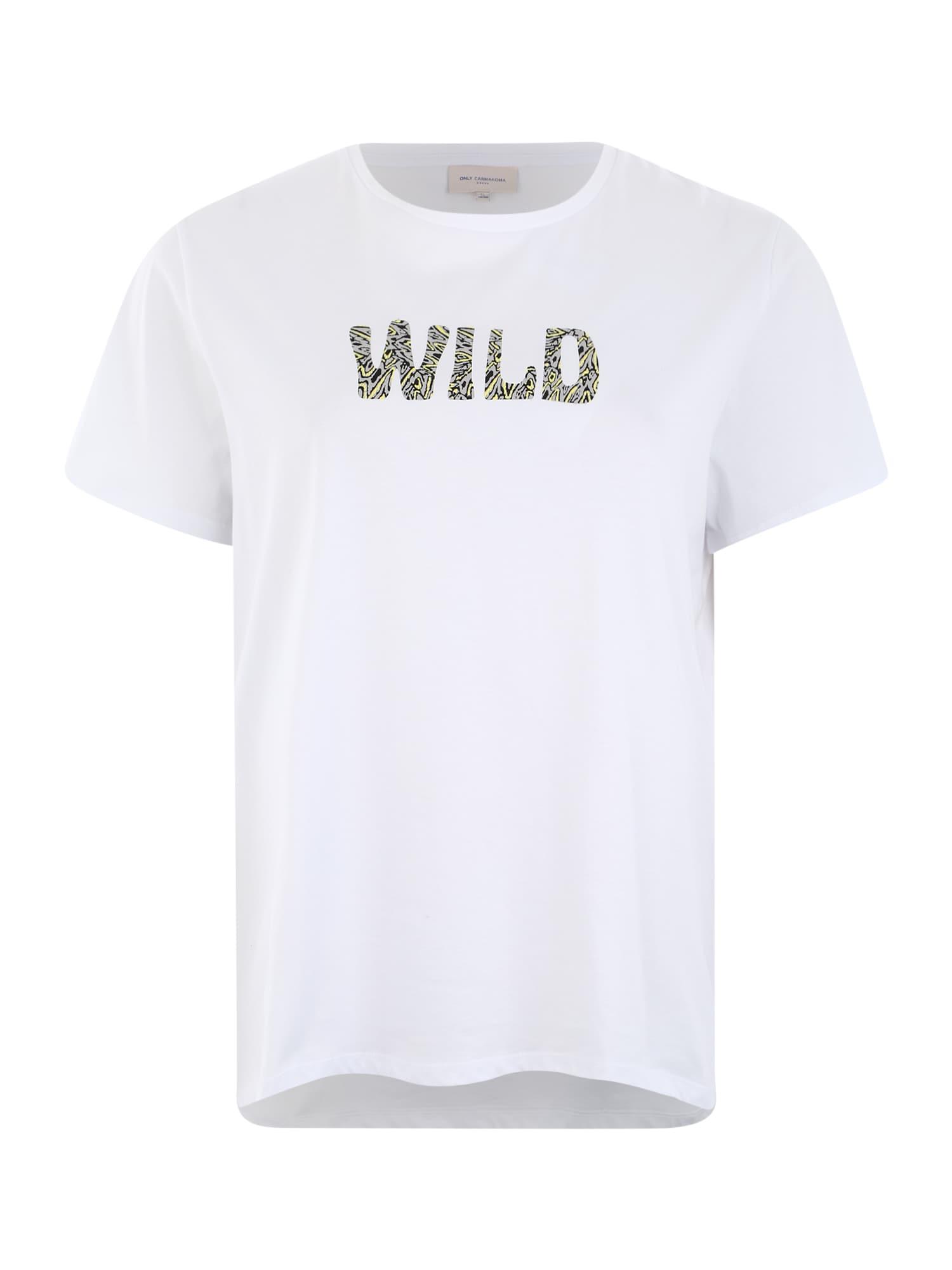 ONLY Carmakoma Marškinėliai 'CARBIA' balta
