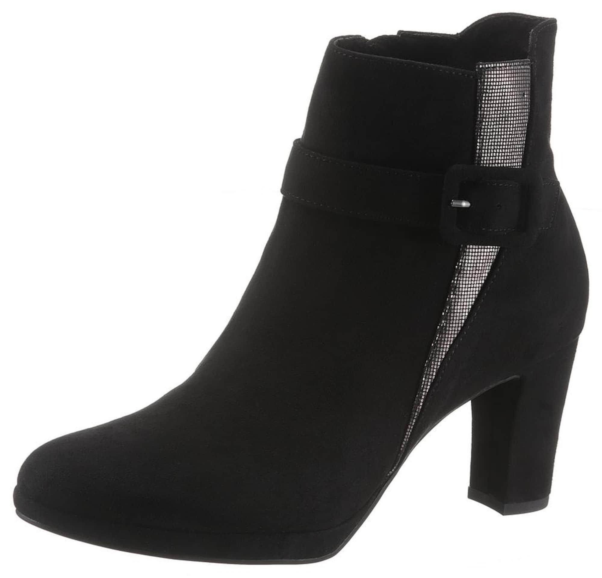 Kotníkové boty černá TAMARIS
