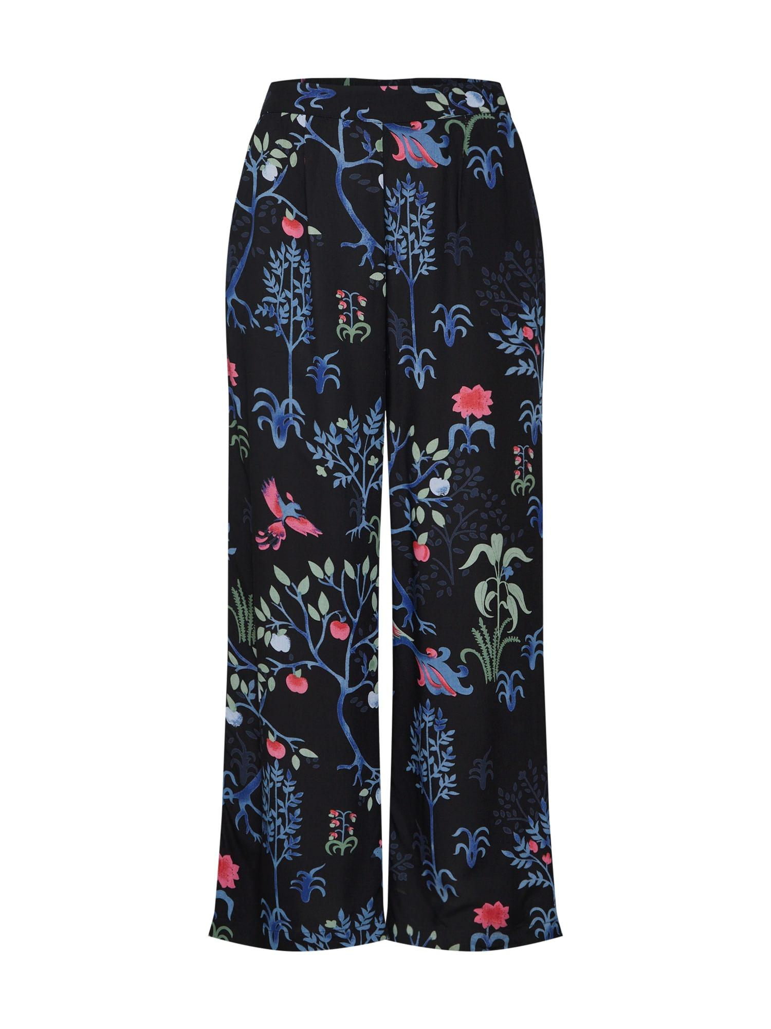 Kalhoty se sklady v pase BIRDIE CARLIE mix barev černá VERO MODA