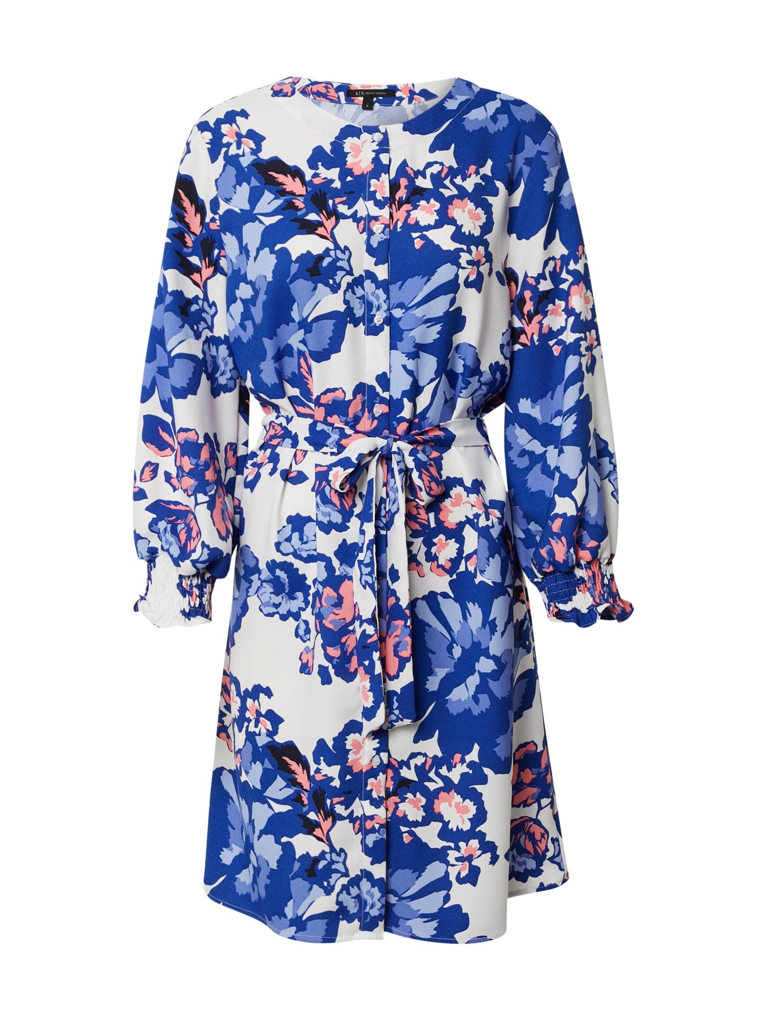ARMANI EXCHANGE Suknelė '3HYA68' mėlyna / balta