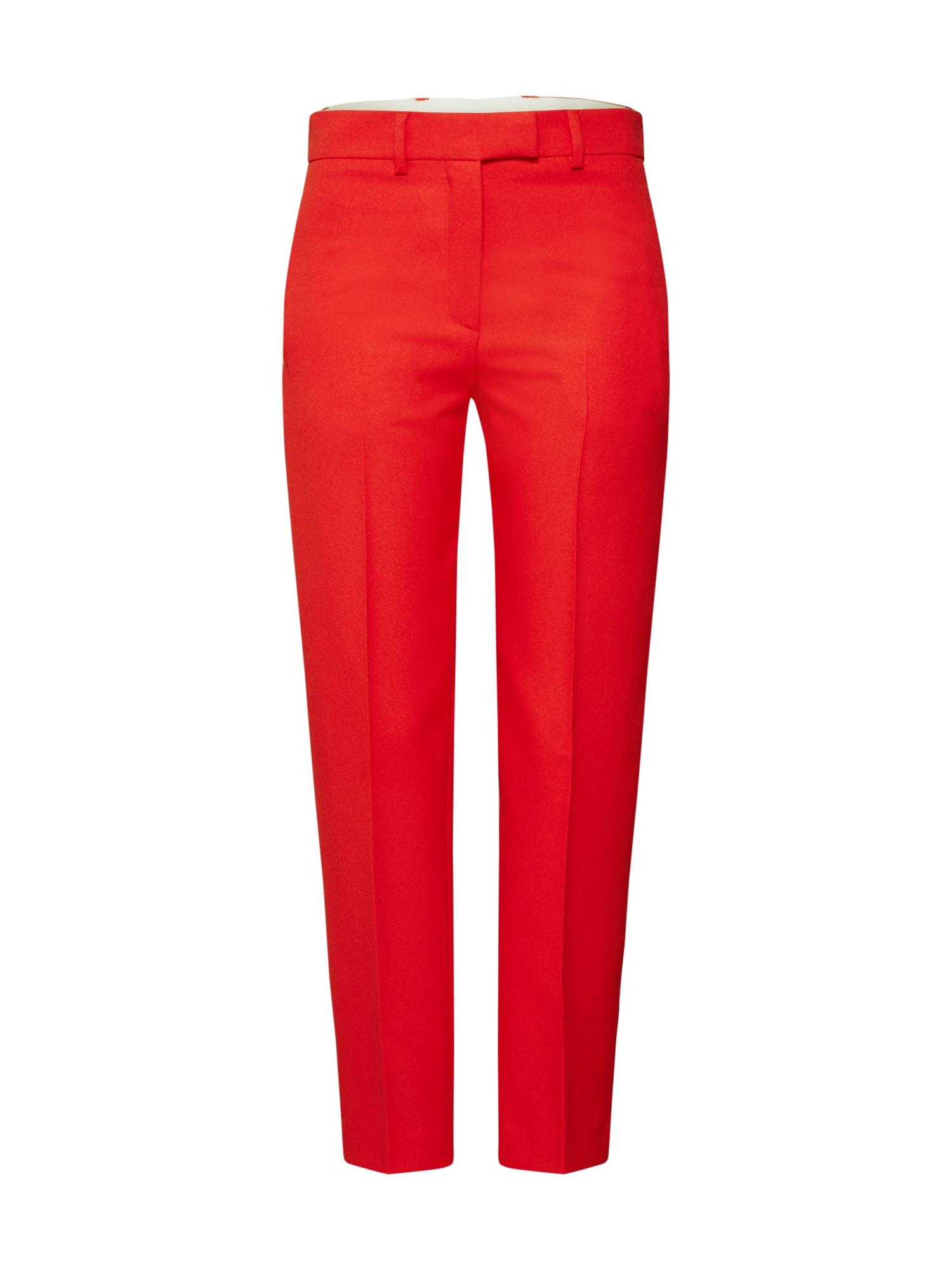 Calvin Klein Kelnės su kantu 'UNIFORM TWILL CIGARETTE PANT' raudona